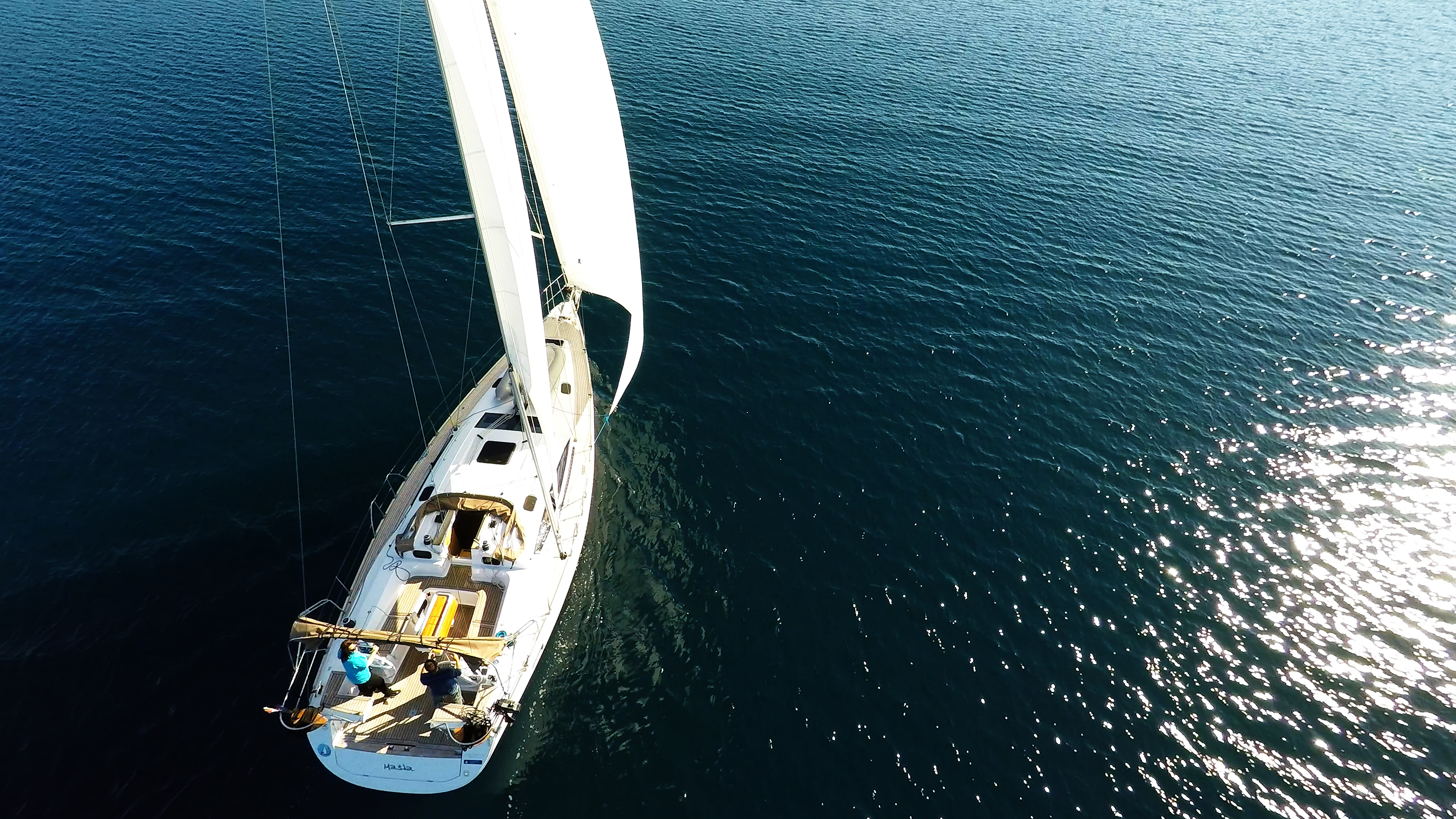 barcha a vela yacht a vela elan 45 impression vele timoni ruota ponte barca a vela