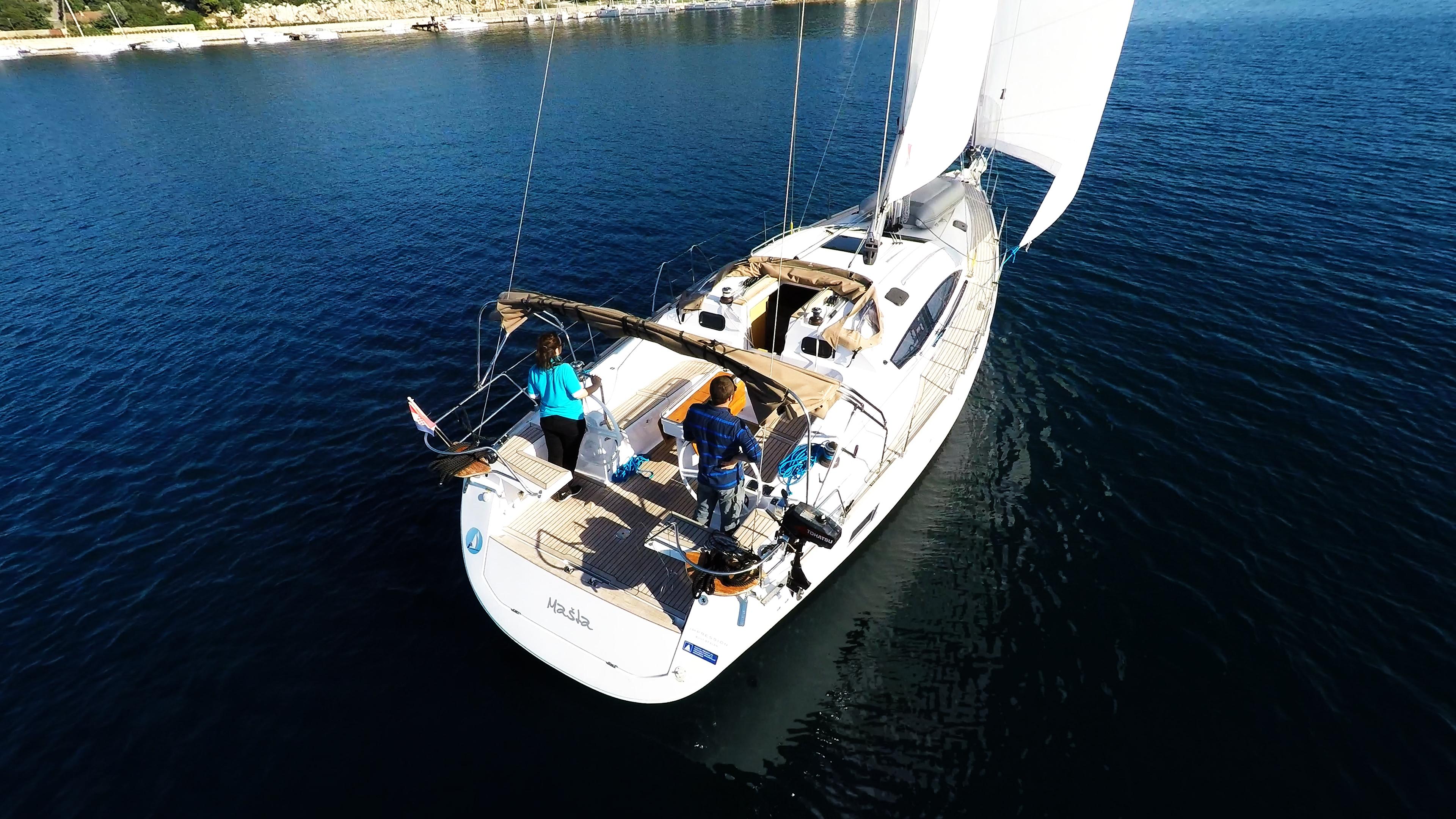 barcha a vela yacht a vela elan 45 impression poppa pozzetto