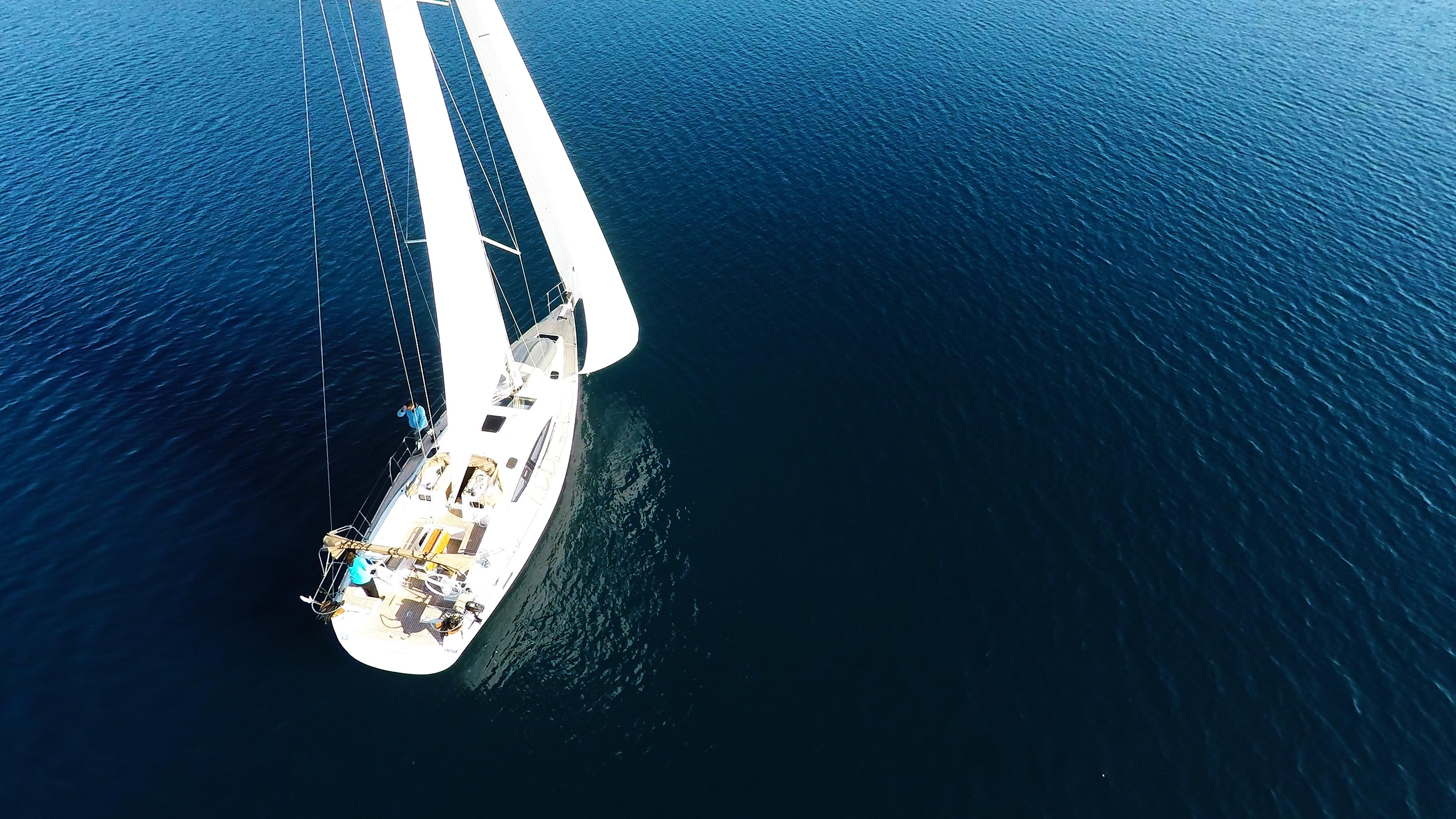 barcha a vela yacht a vela barca a vela vela mare blu elan 45