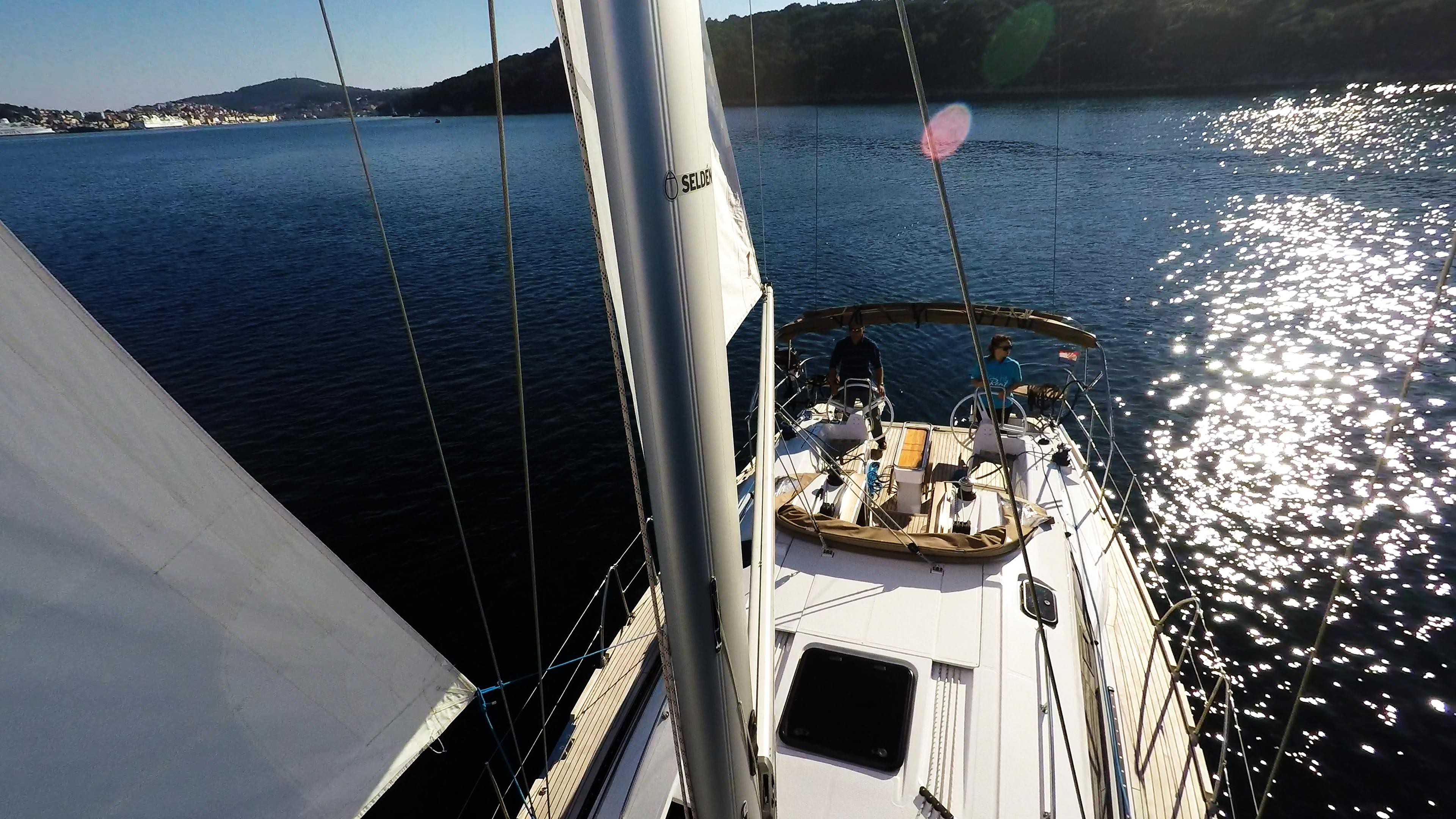 barcha a vela vele albero sartiame yacht a vela elan 45 impression barca a vela