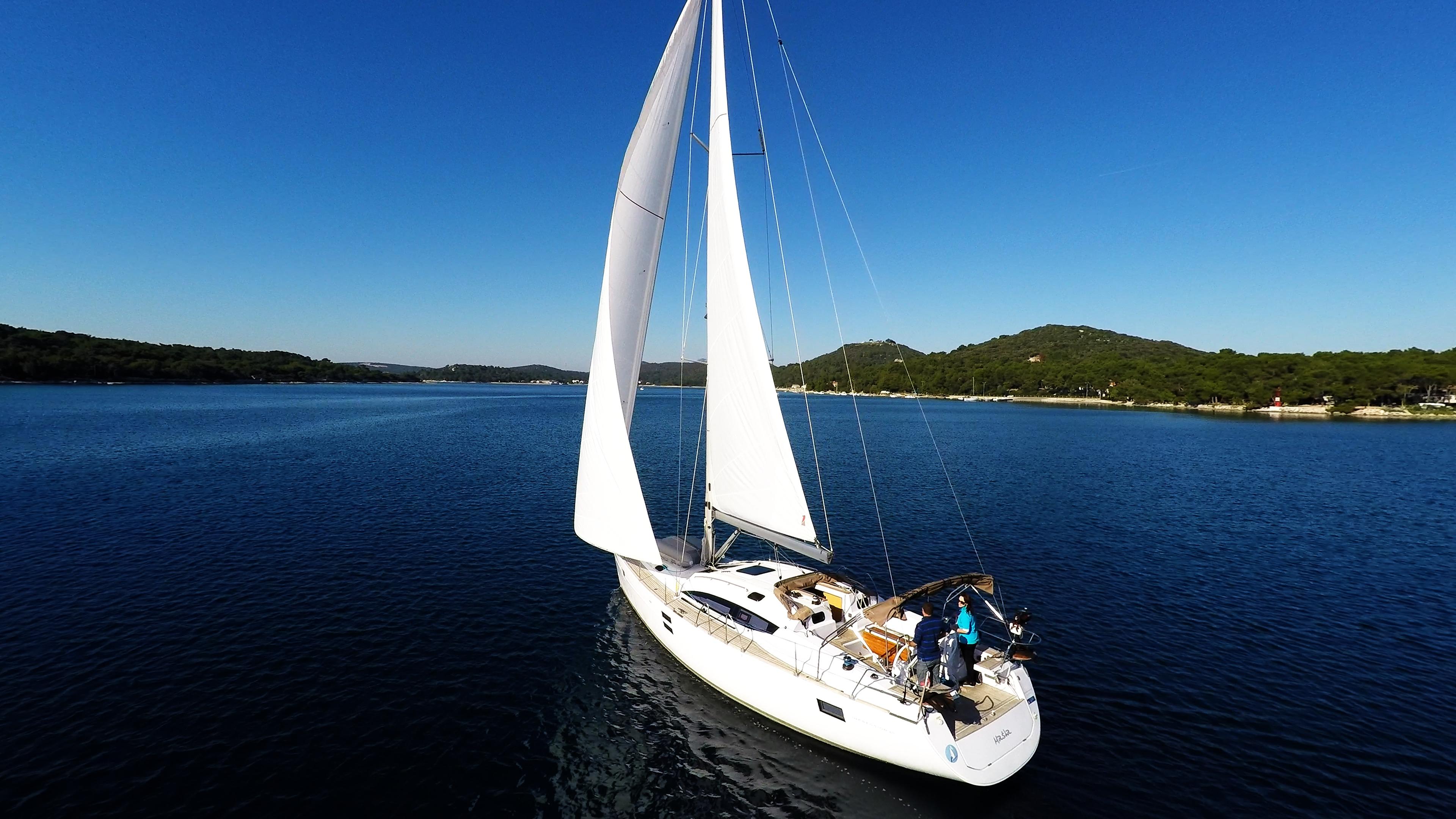 barcha a vela vele yacht a vela elan 45 impression cielo blu barca a vela