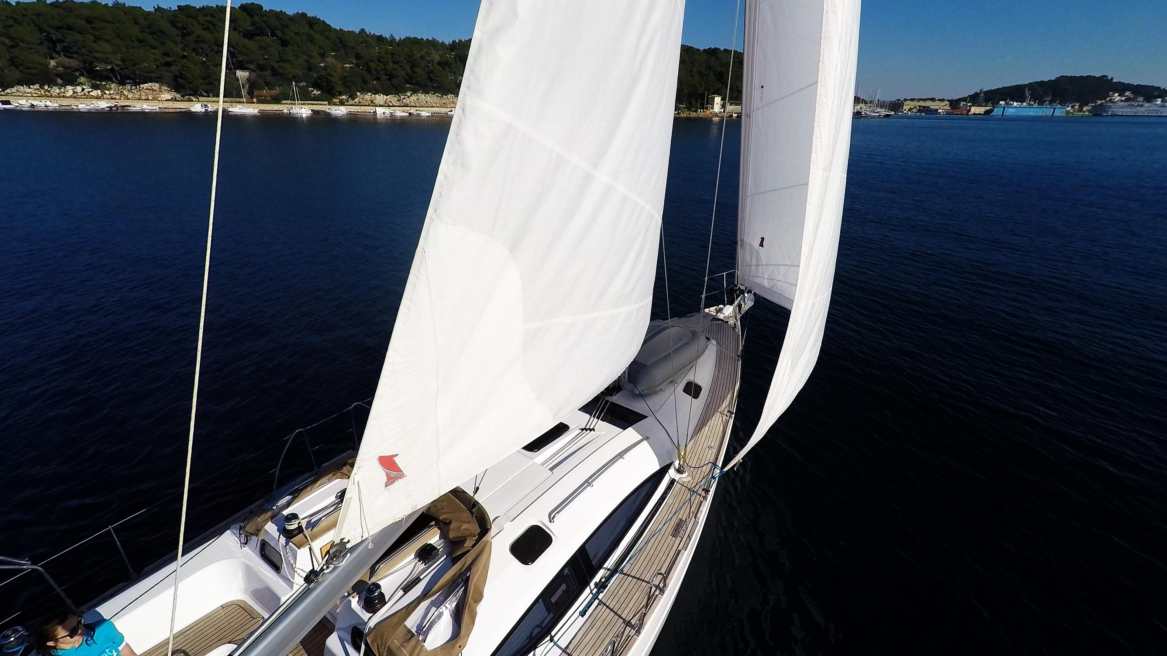 barcha a vela vele pontein teak barca a vela elan 45 impression yacht a vela