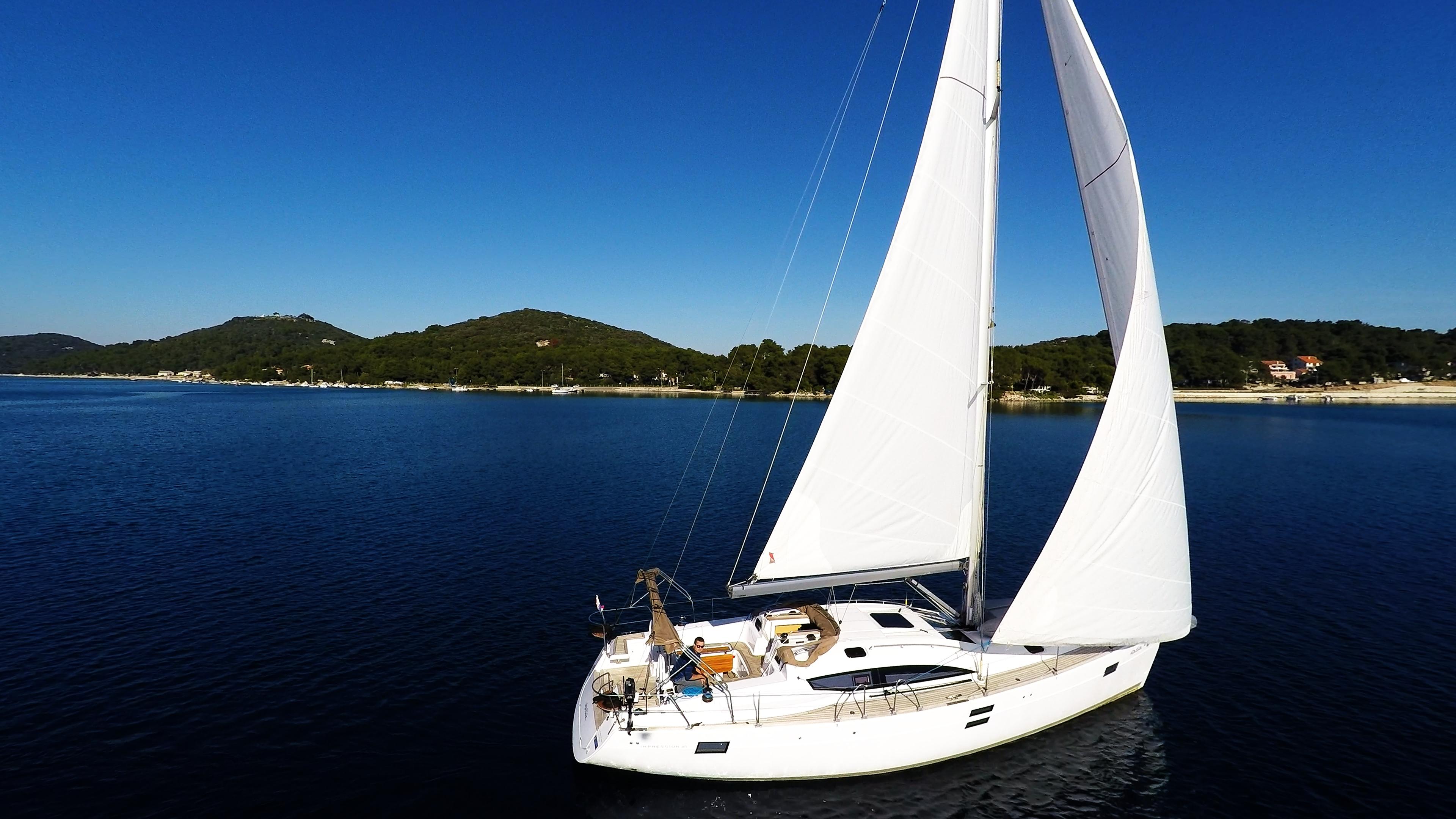 barcha a vela mare cielo blu yacht a vela elan 45 impression barca a vela vela