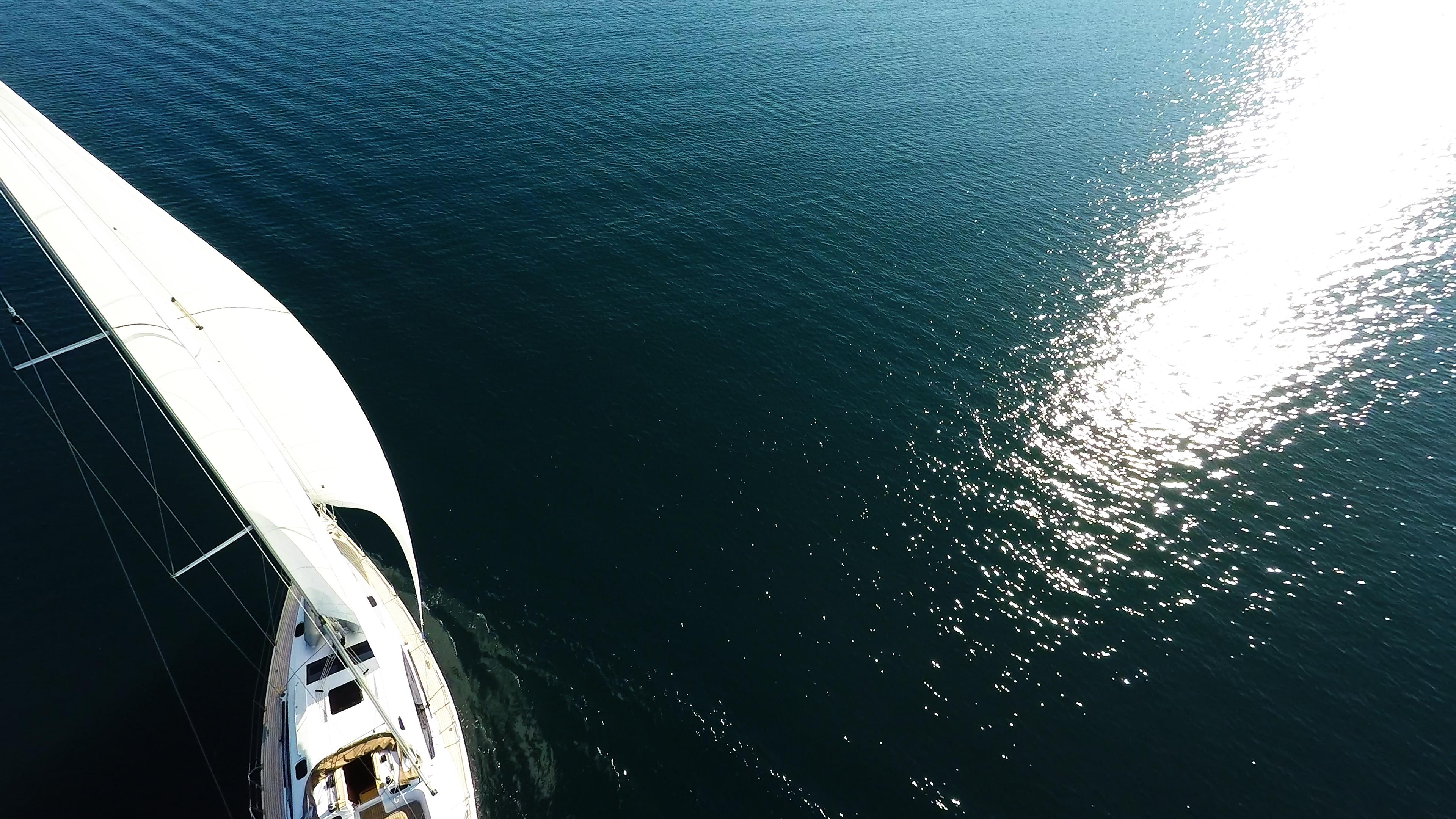 barcha a vela mare riflesso del sole yacht a vela barca a vela vela