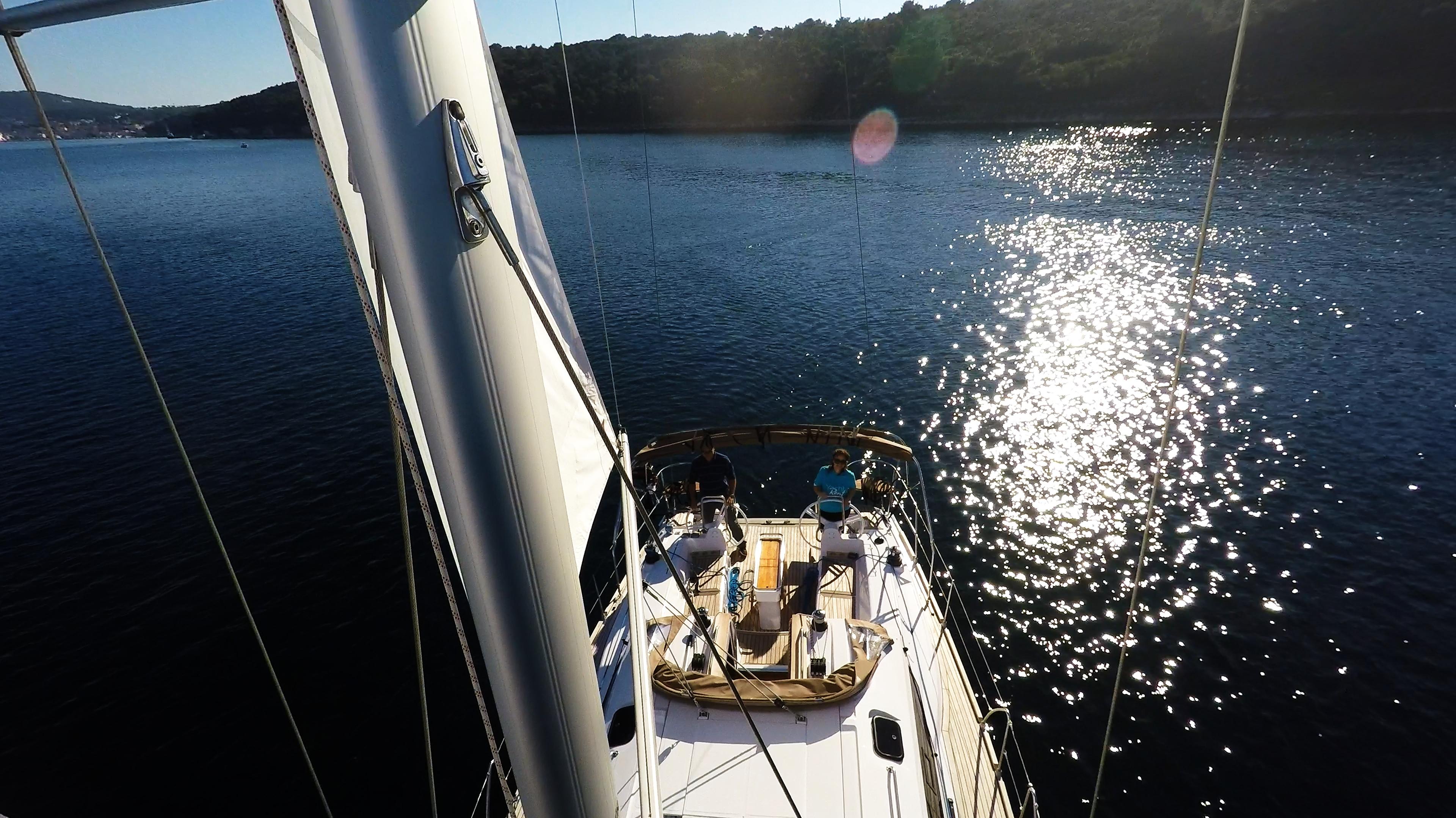 barcha a vela sartie barca a vela albero vela yacht a vela elan 45 impression