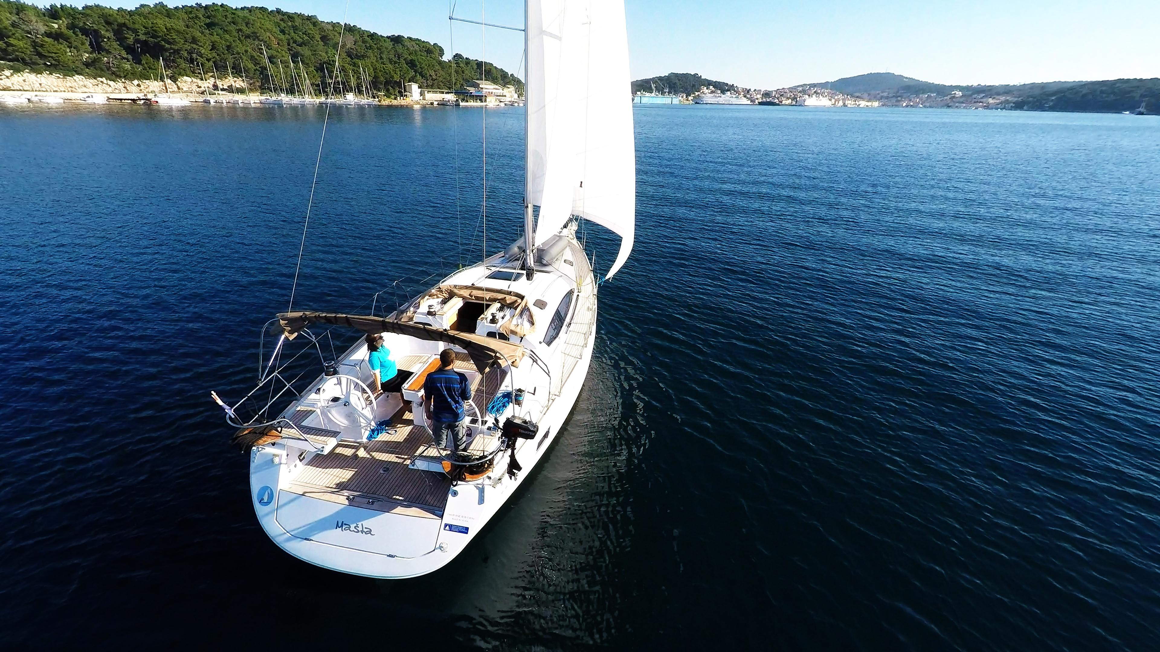 barcha a vela poppa barca a vela elan 45 impression yacht a vela
