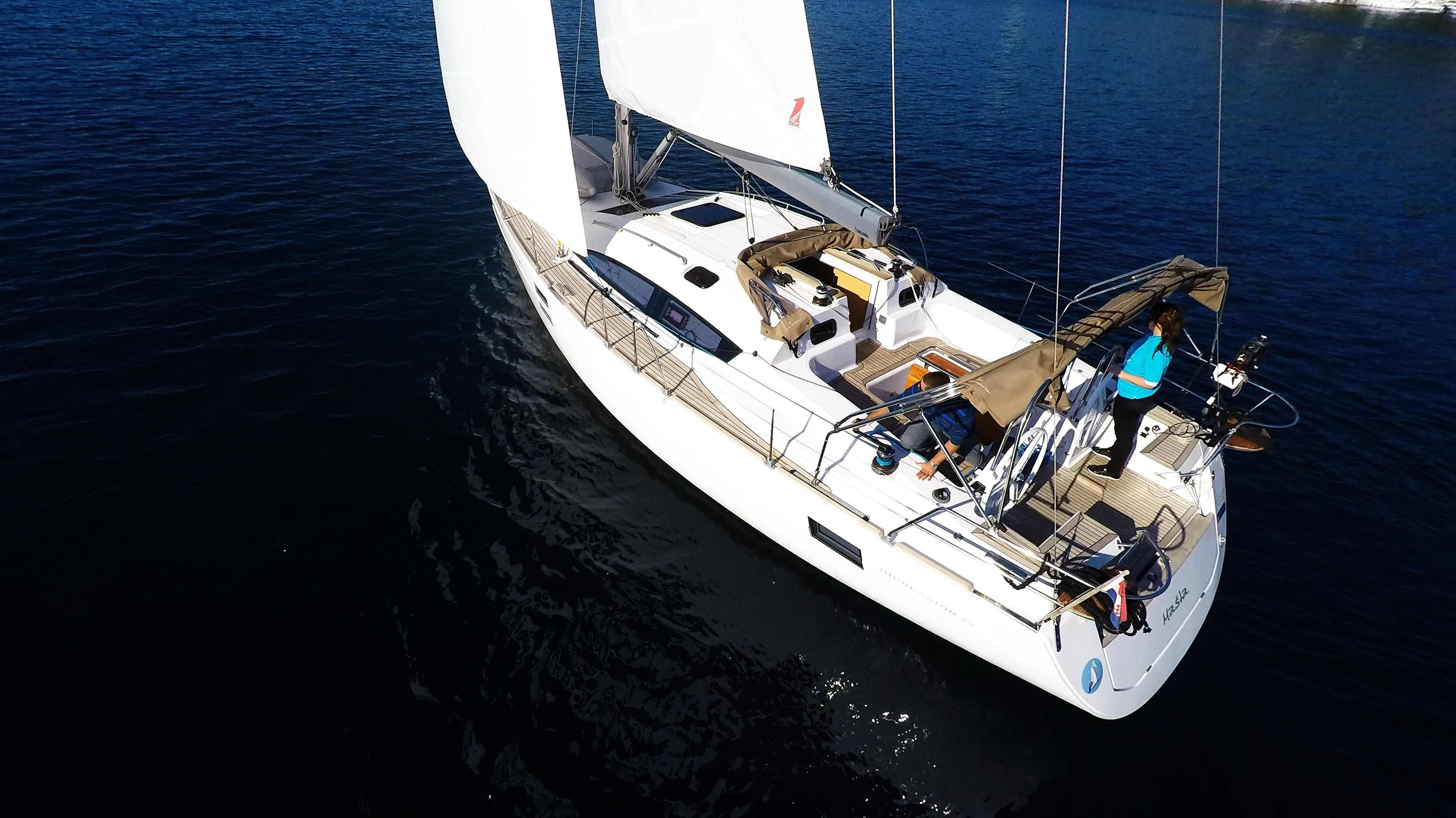 barcha a vela verricello yacht a vela elan 45 impression barca a vela