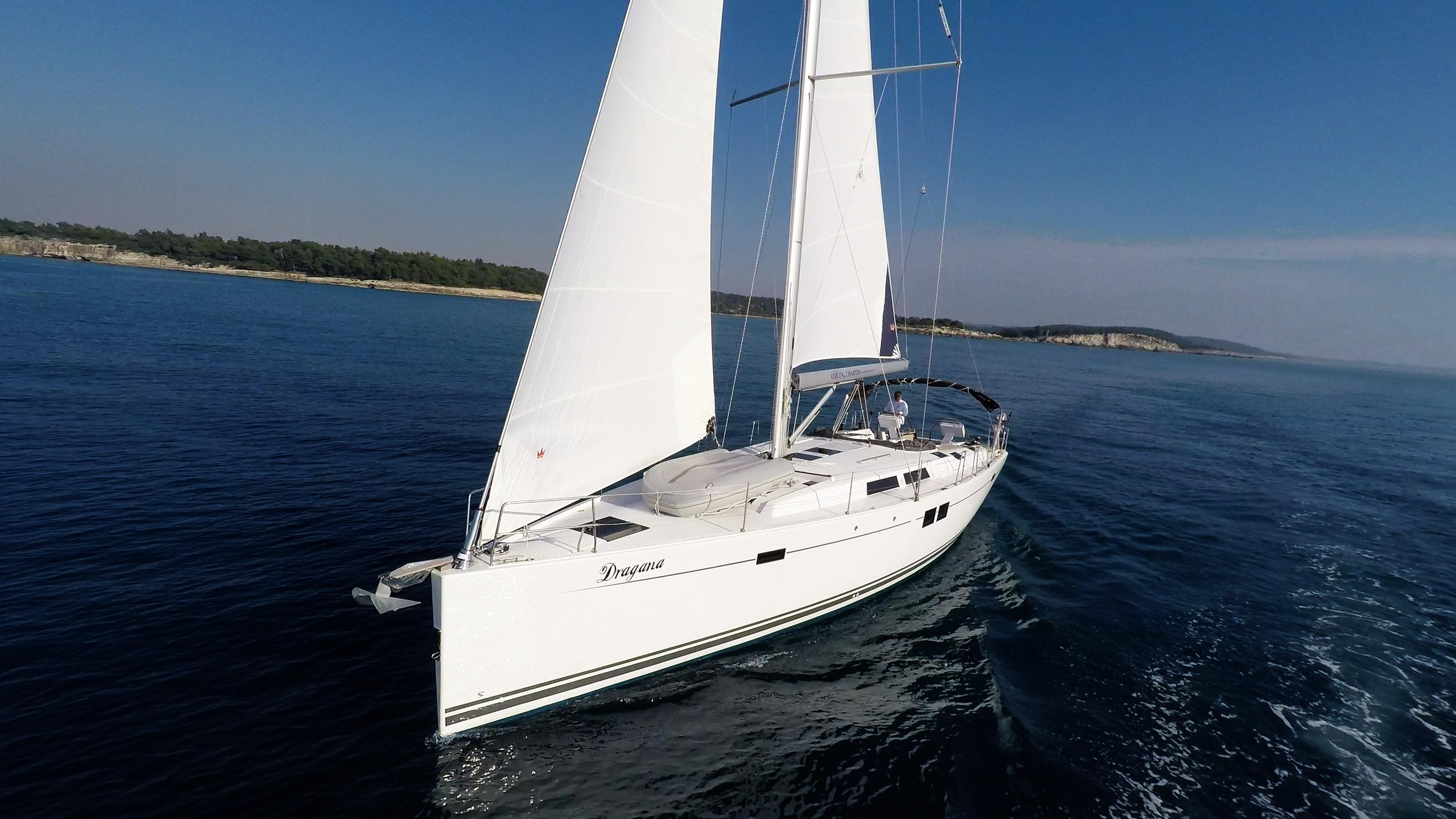 barcha a vela prua vele Hanse 505 yacht a vela