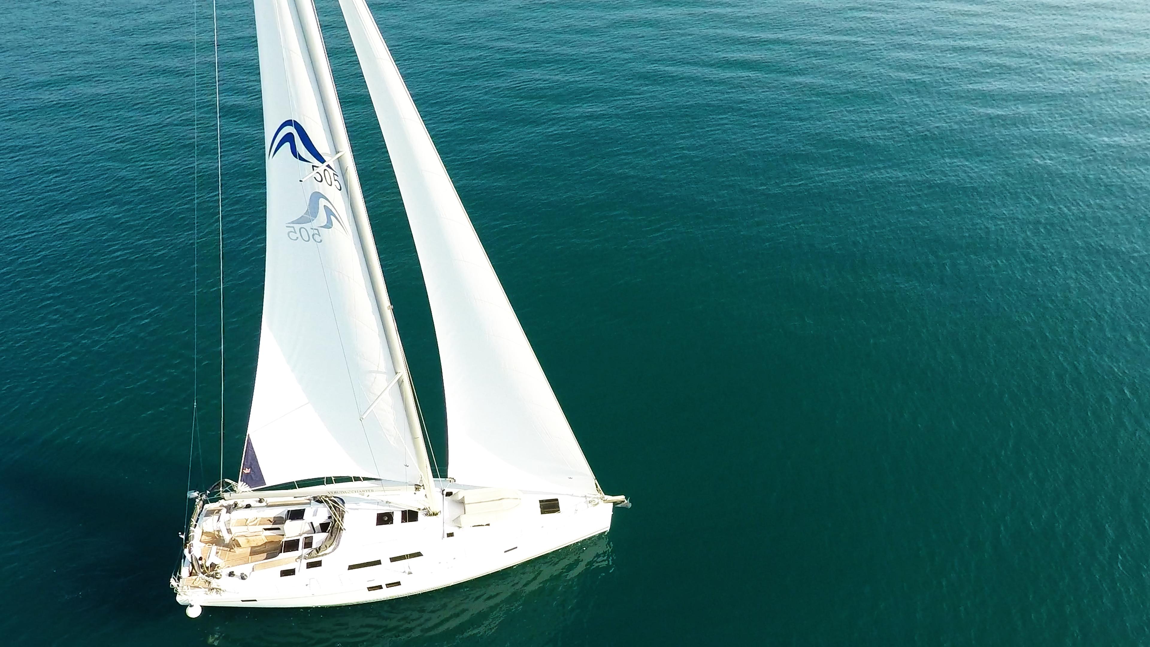 barcha a vela Hanse 505 foto aerea yacht a vela