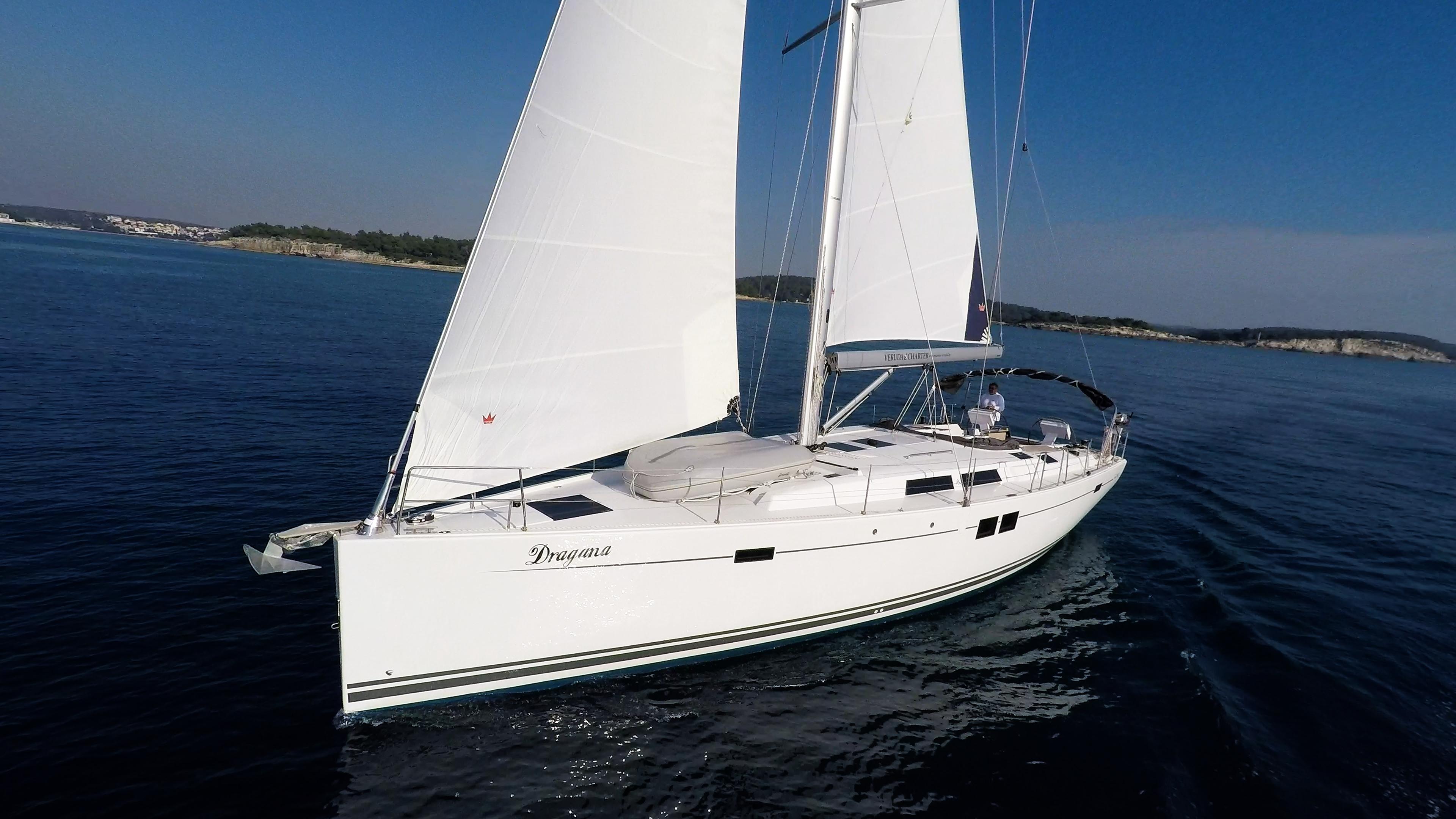 barcha a vela Hanse 505 prua vele yacht a vela