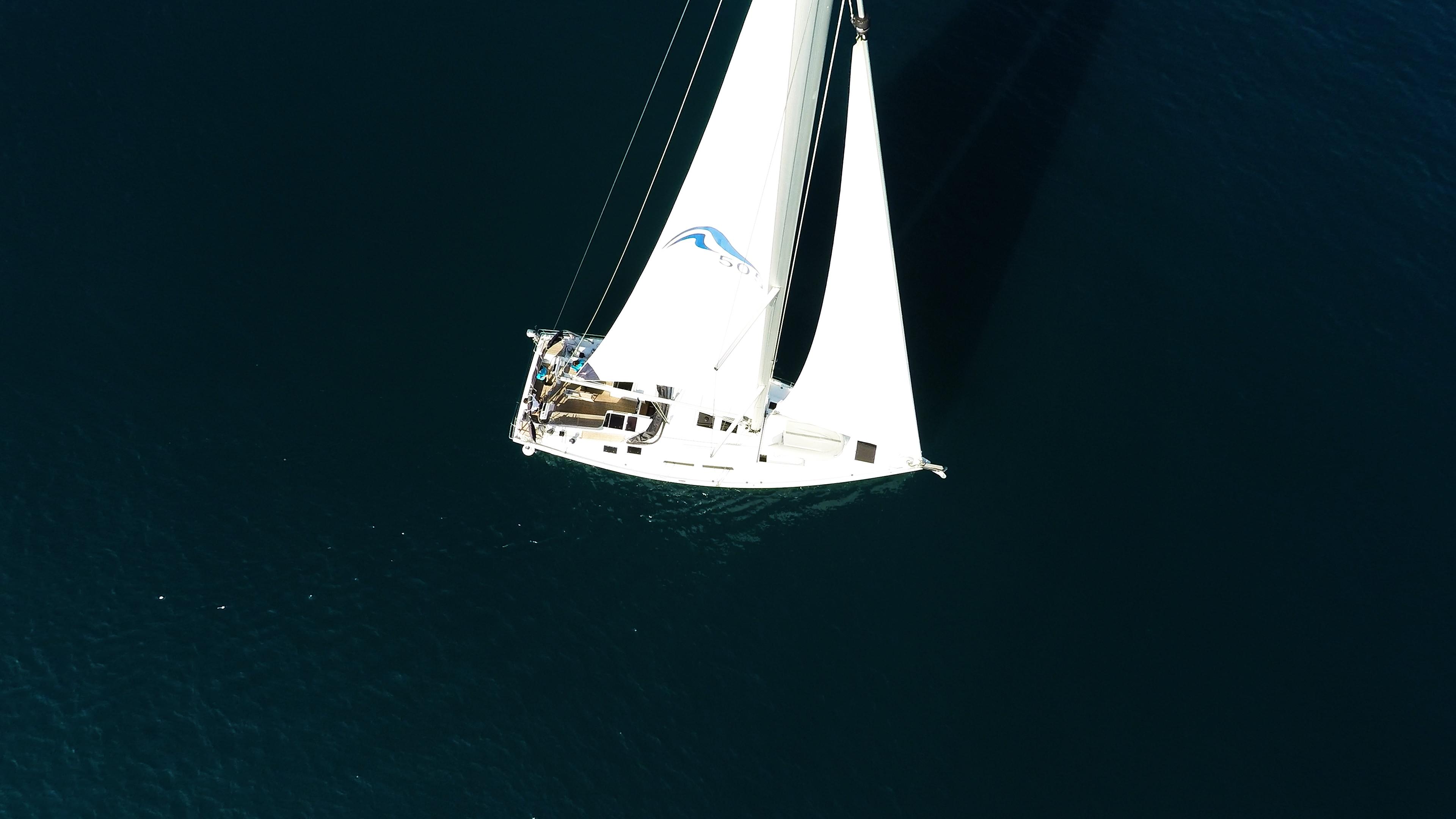 barcha a vela Hanse 505 da sopra vele di yacht a vela mare