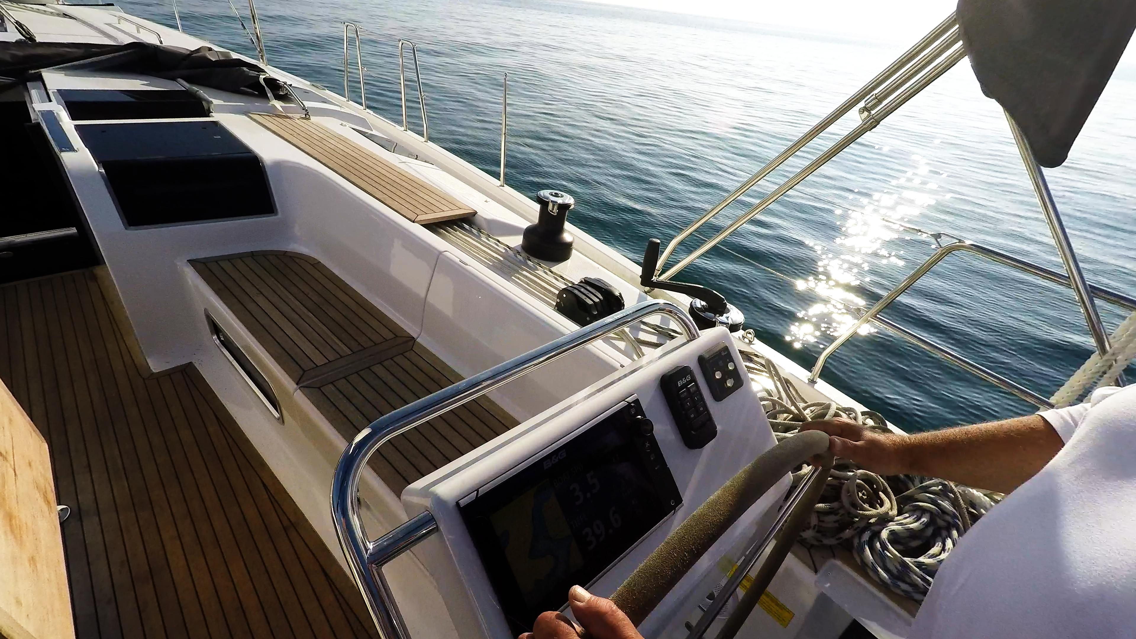 barcha a vela Hanse 505 strumenti teak pozzetto yacht a vela