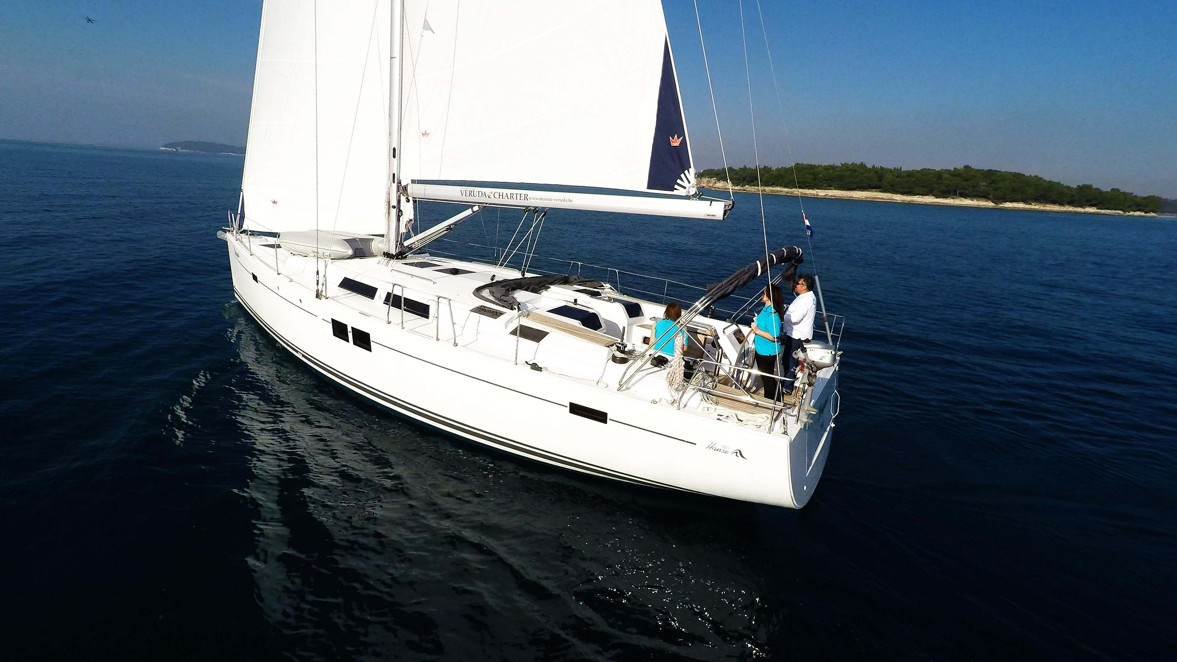 barcha a vela Hanse 505 barca a vela 5
