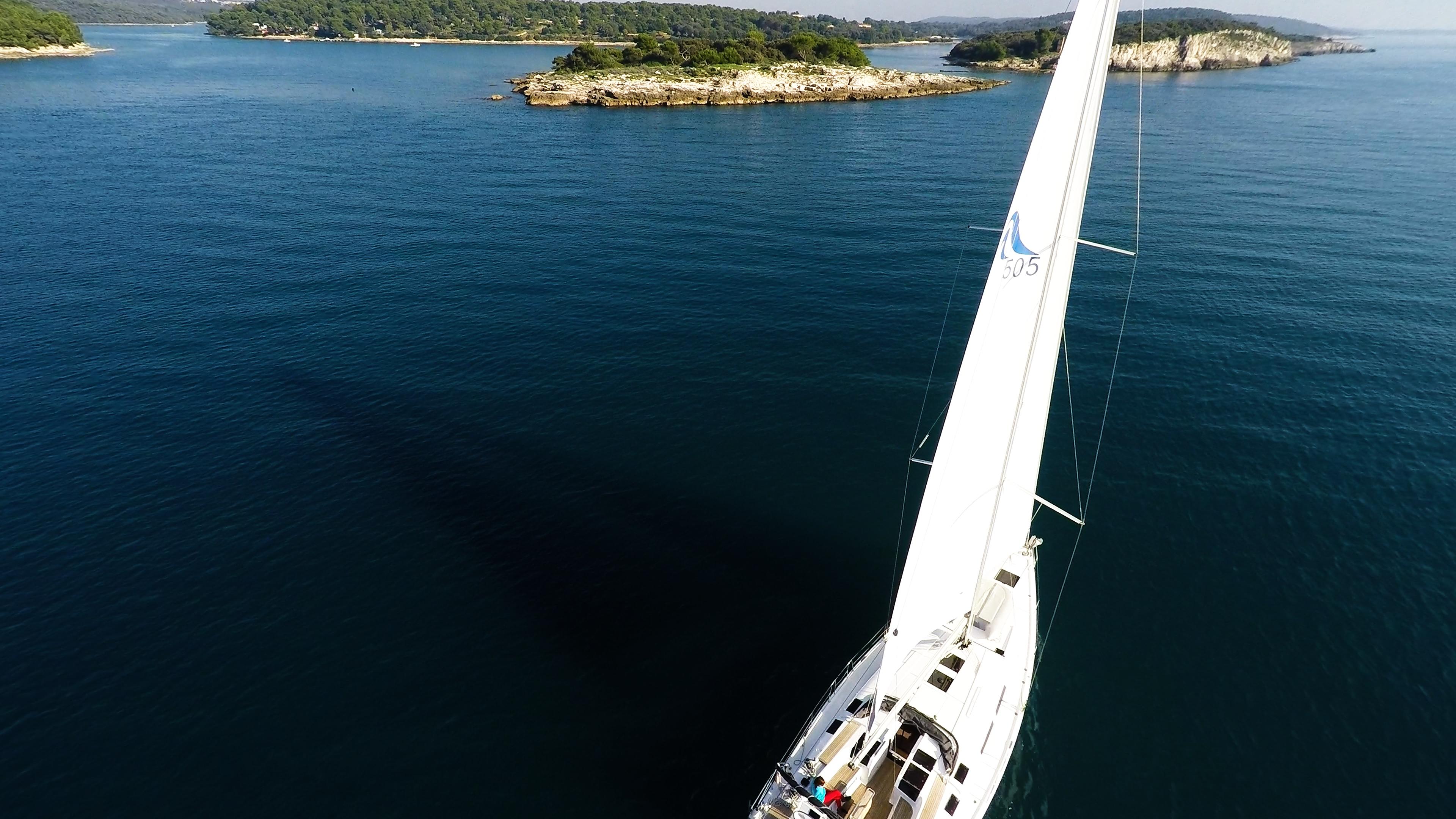 barcha a vela Hanse 505 barca a vela mare blu isole vele ponte