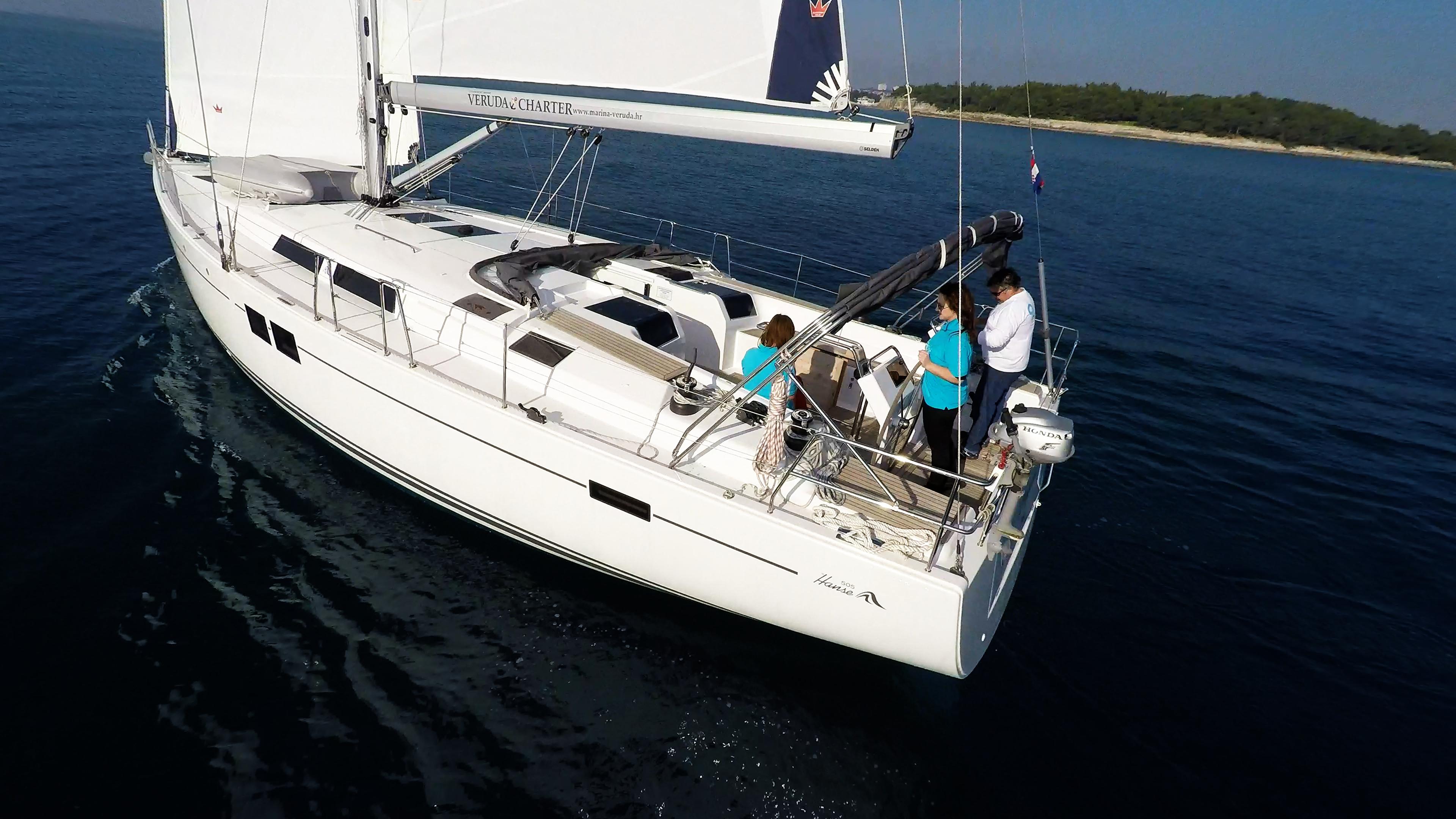 barcha a vela Hanse 505 barca a vela monoscafo timoni ruota
