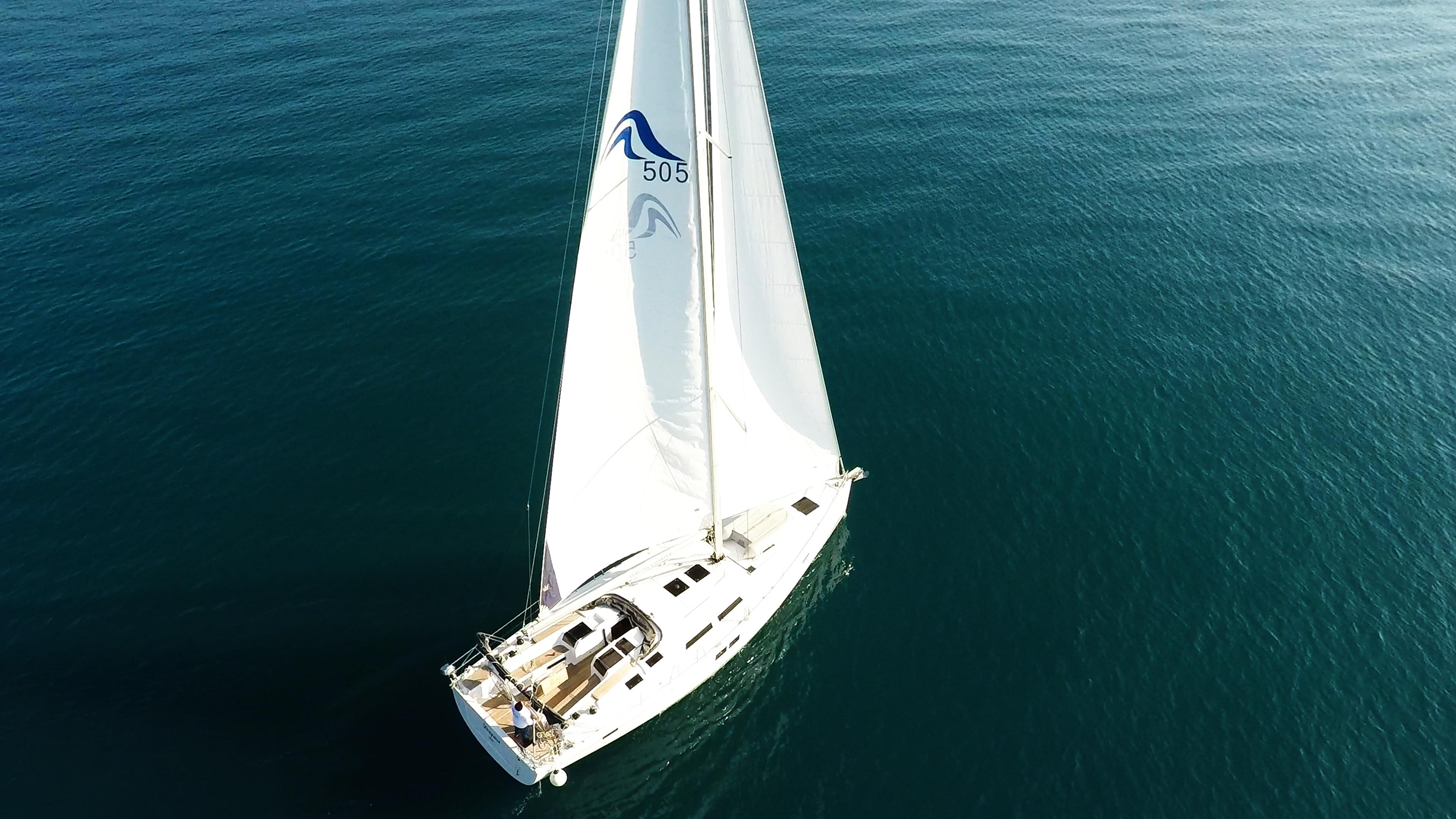 barcha a vela Hanse 505 yacht a vela aereo 1