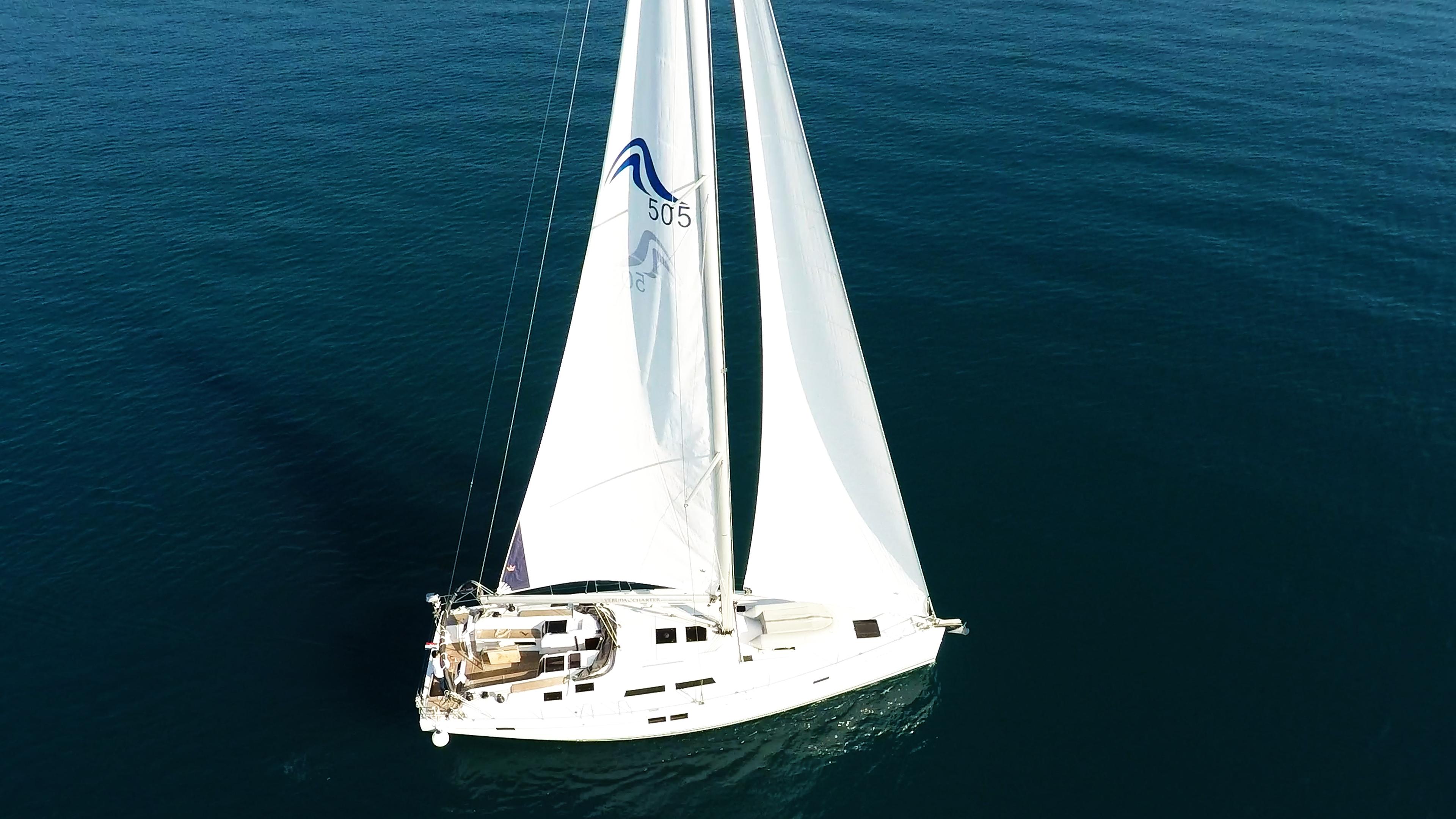 barcha a vela Hanse 505 yacht a vela aereo 2