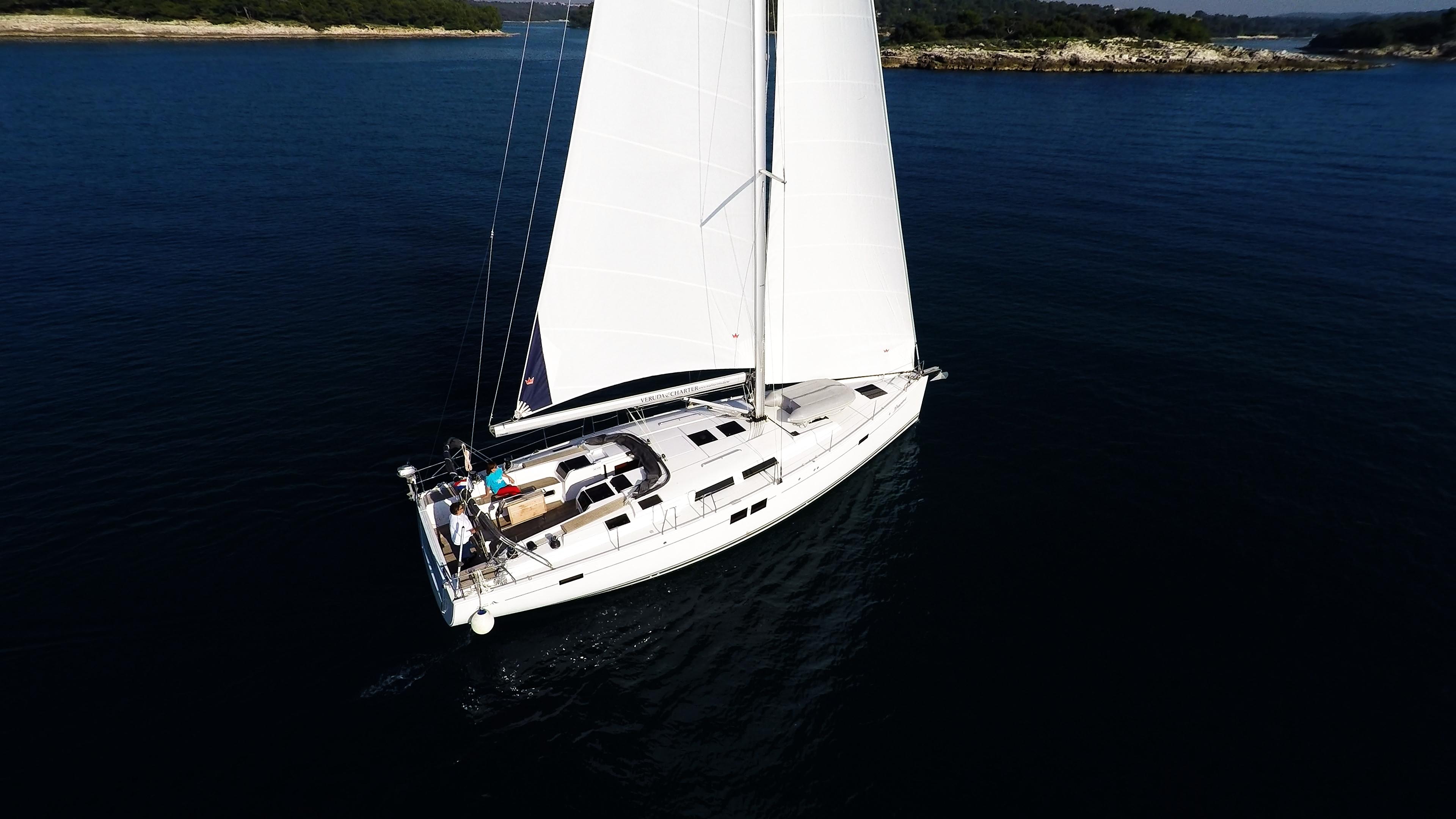 barcha a vela Hanse 505 yacht a vela barca vele ponte pozzetto