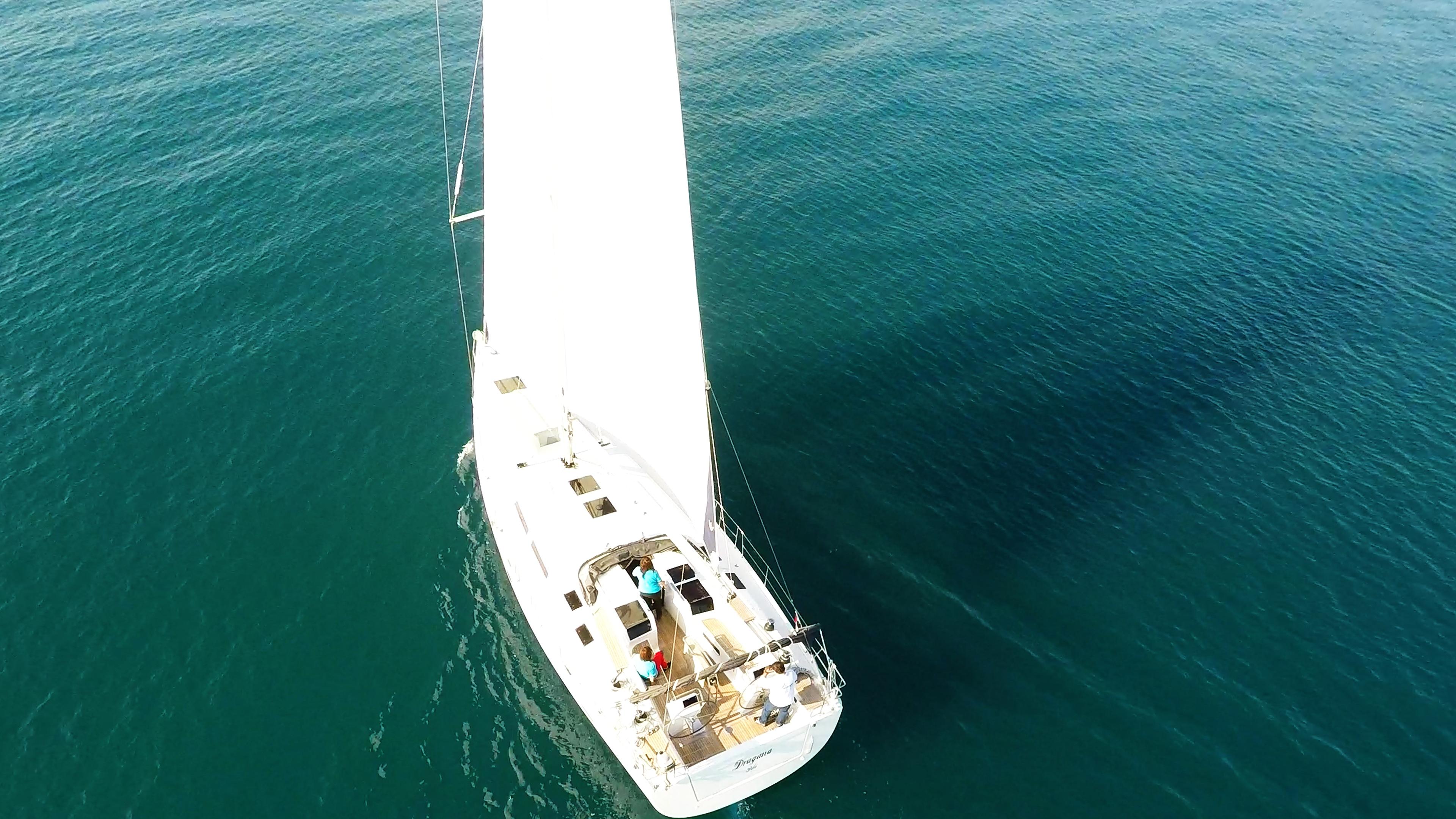 barcha a vela Hanse 505 coperta per yacht a vela pozzetto da sopra
