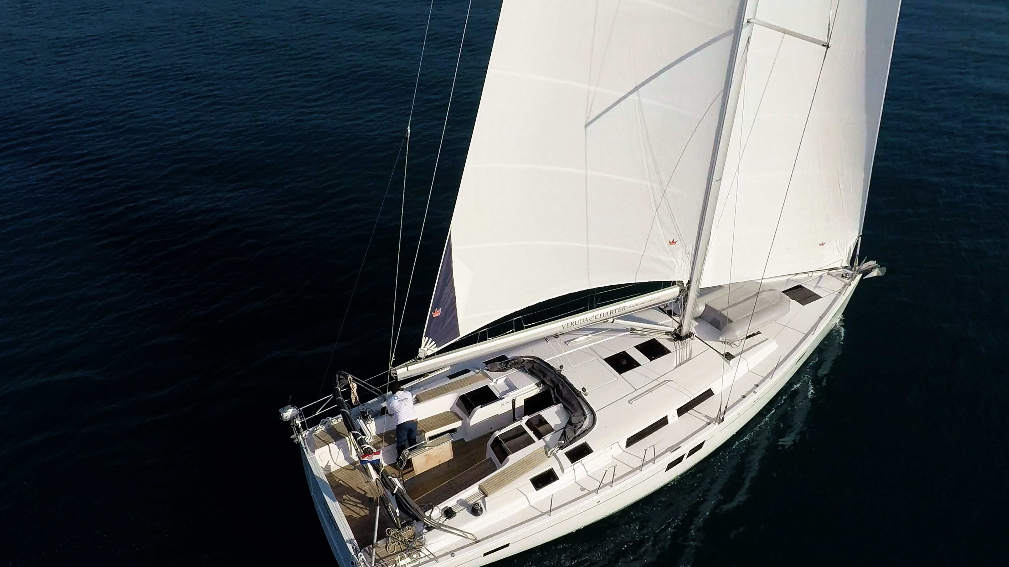 barcha a vela Hanse 505 coperta per yacht a velasopra vele