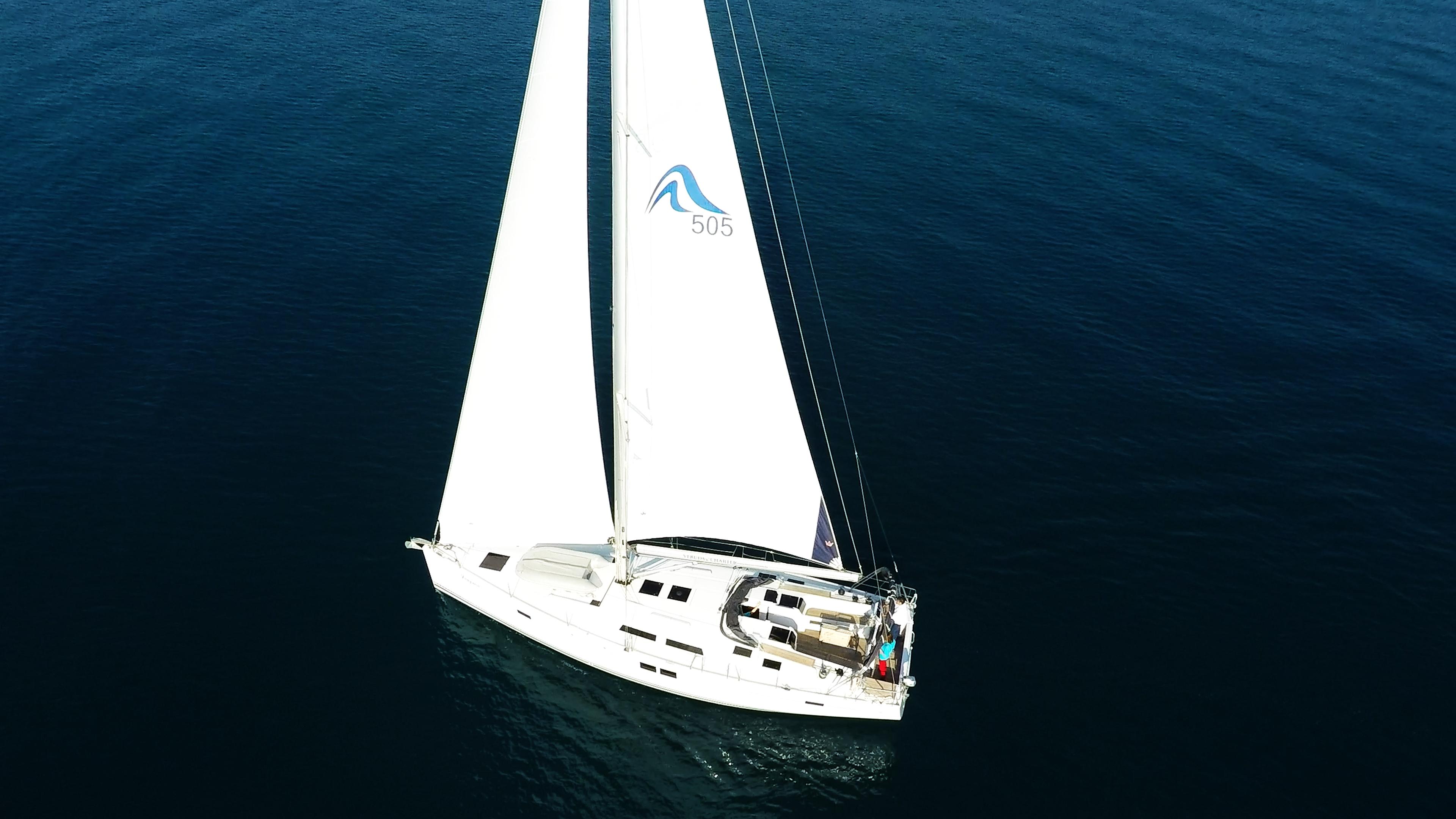 barcha a vela Hanse 505 coperta per yacht a vela vele pozzetto