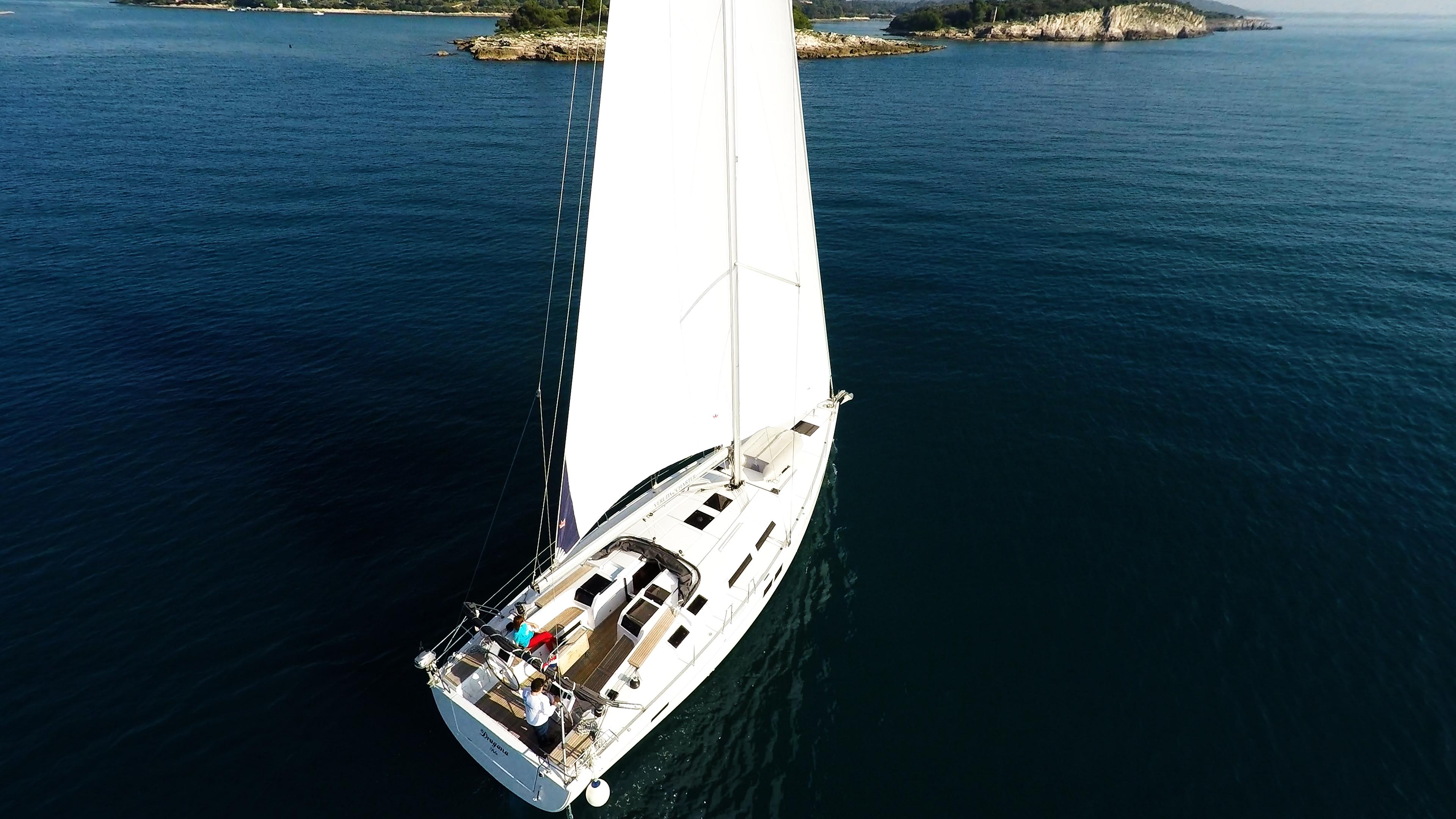 barcha a vela Hanse 505 yacht a vela da sopra pozzetto timoni ruota