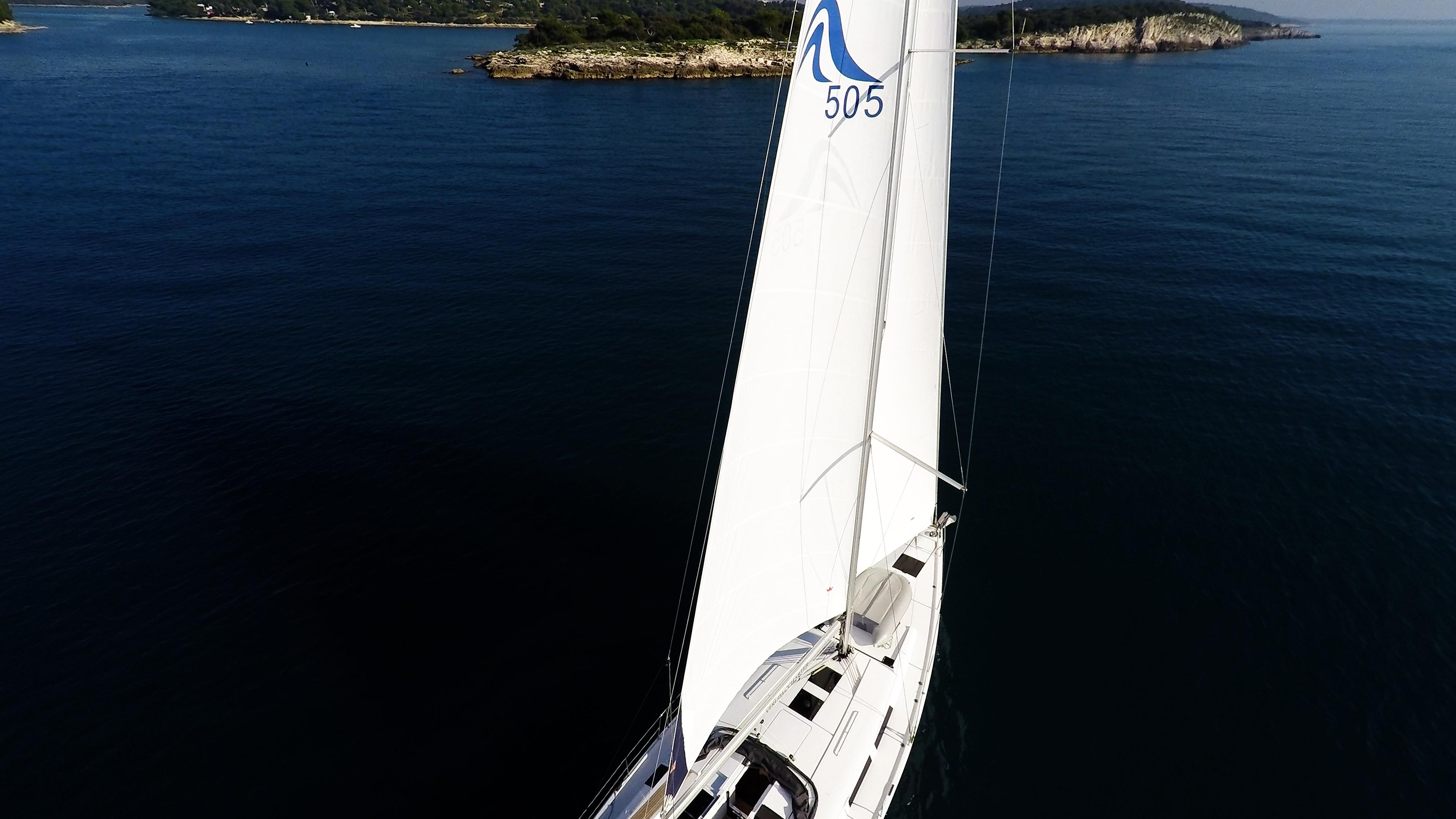 barcha a vela Hanse 505 yacht a vela vele della barca a vela mare blu isole
