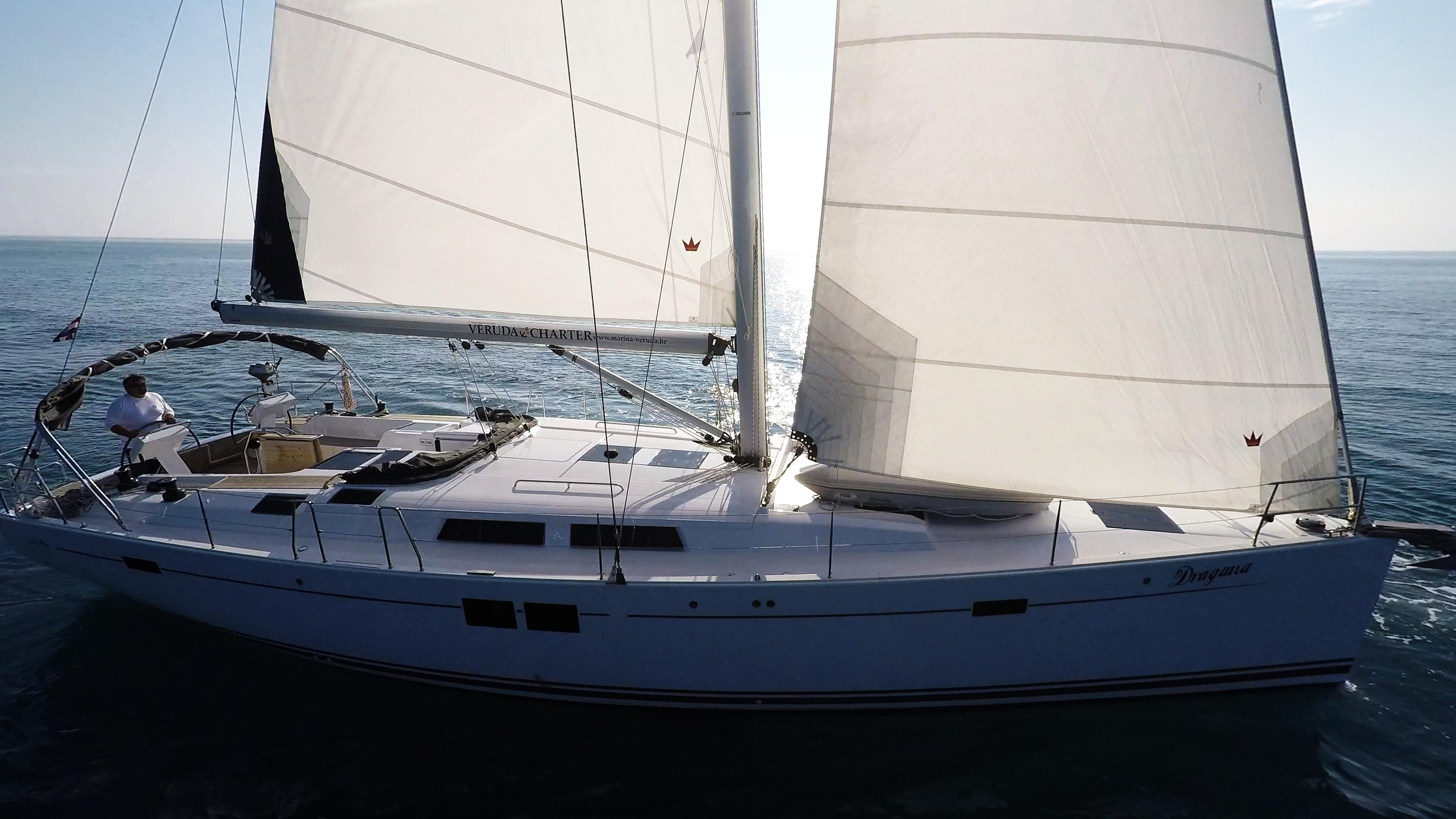 barcha a vela Hanse 505 vele di yacht a vela scafo ponte