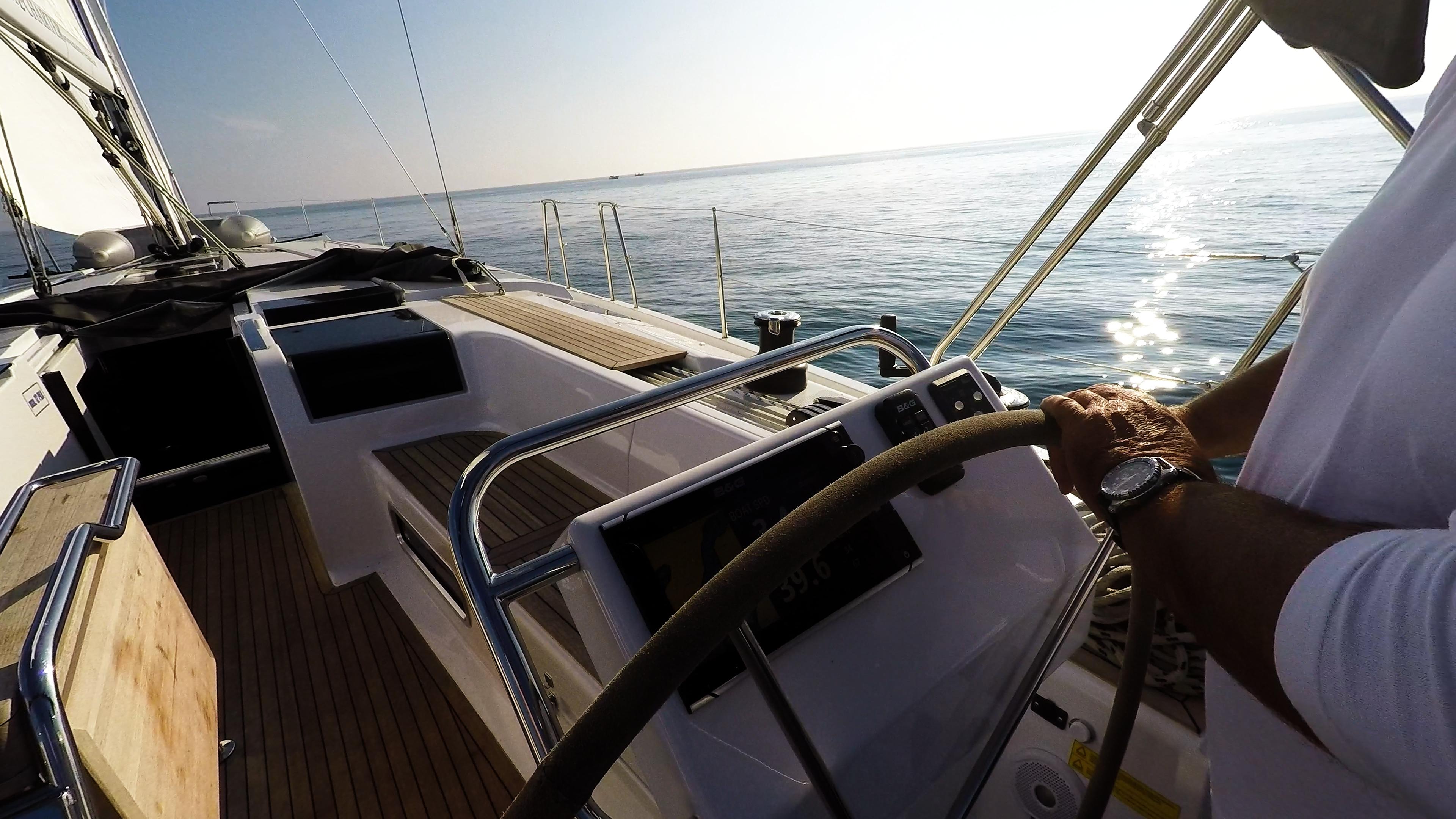 barcha a vela Hanse 505 yacht a vela teak pozzetto barca a vela strumenti skipper