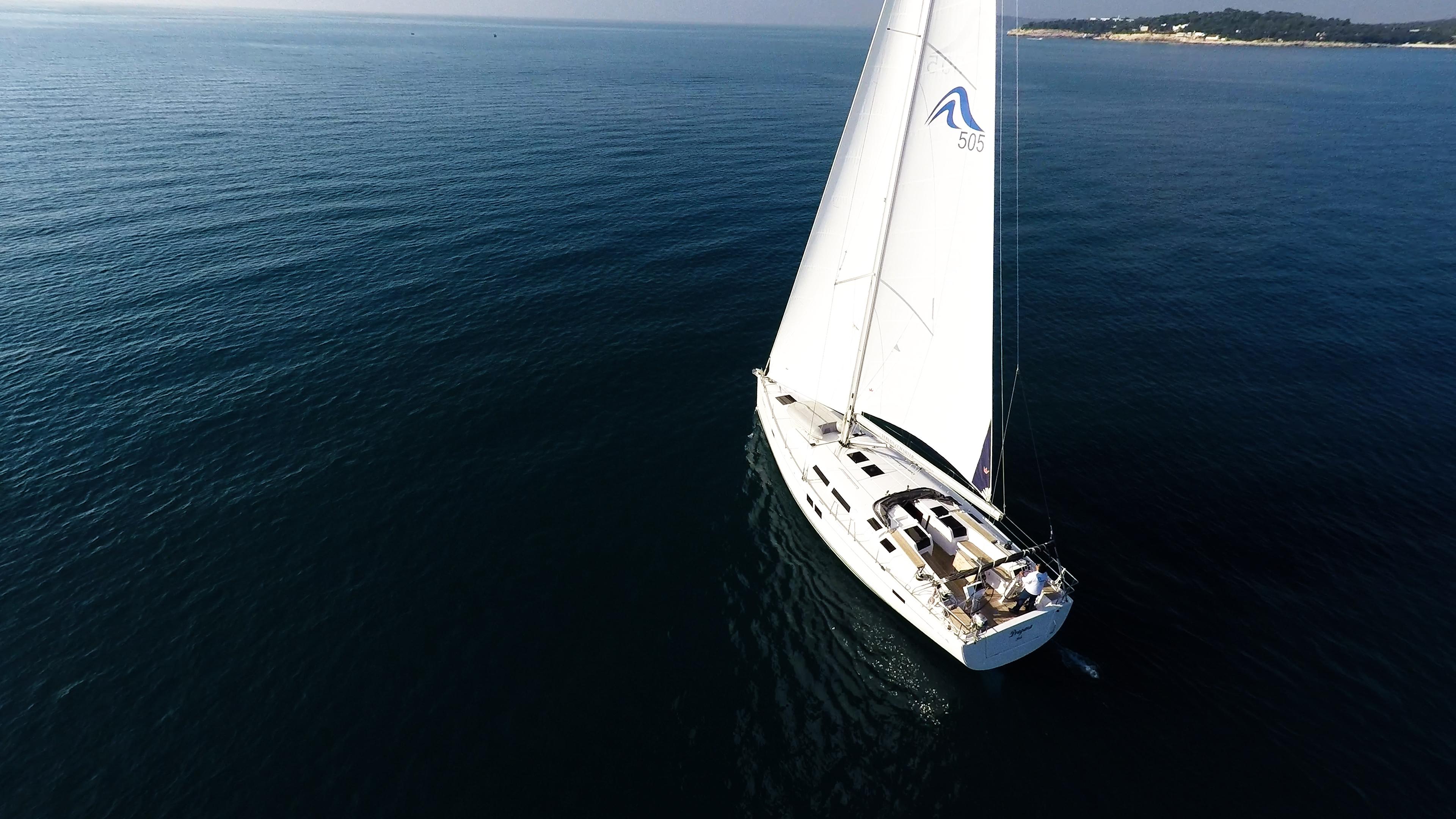 barcha a vela barca a vela mare blu veleggiare Hanse 505