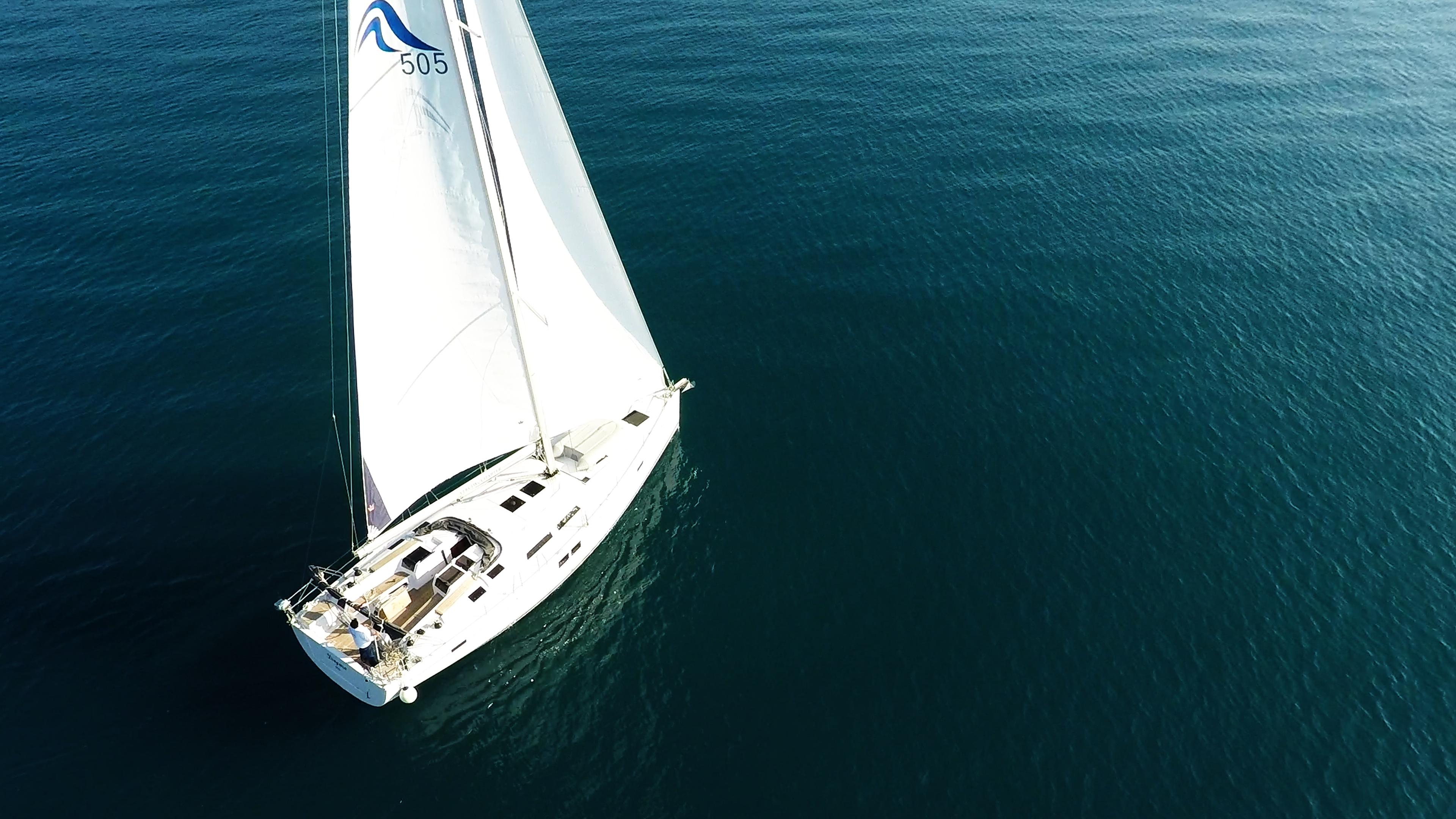 barcha a vela barca a vela da sopra Hanse 505