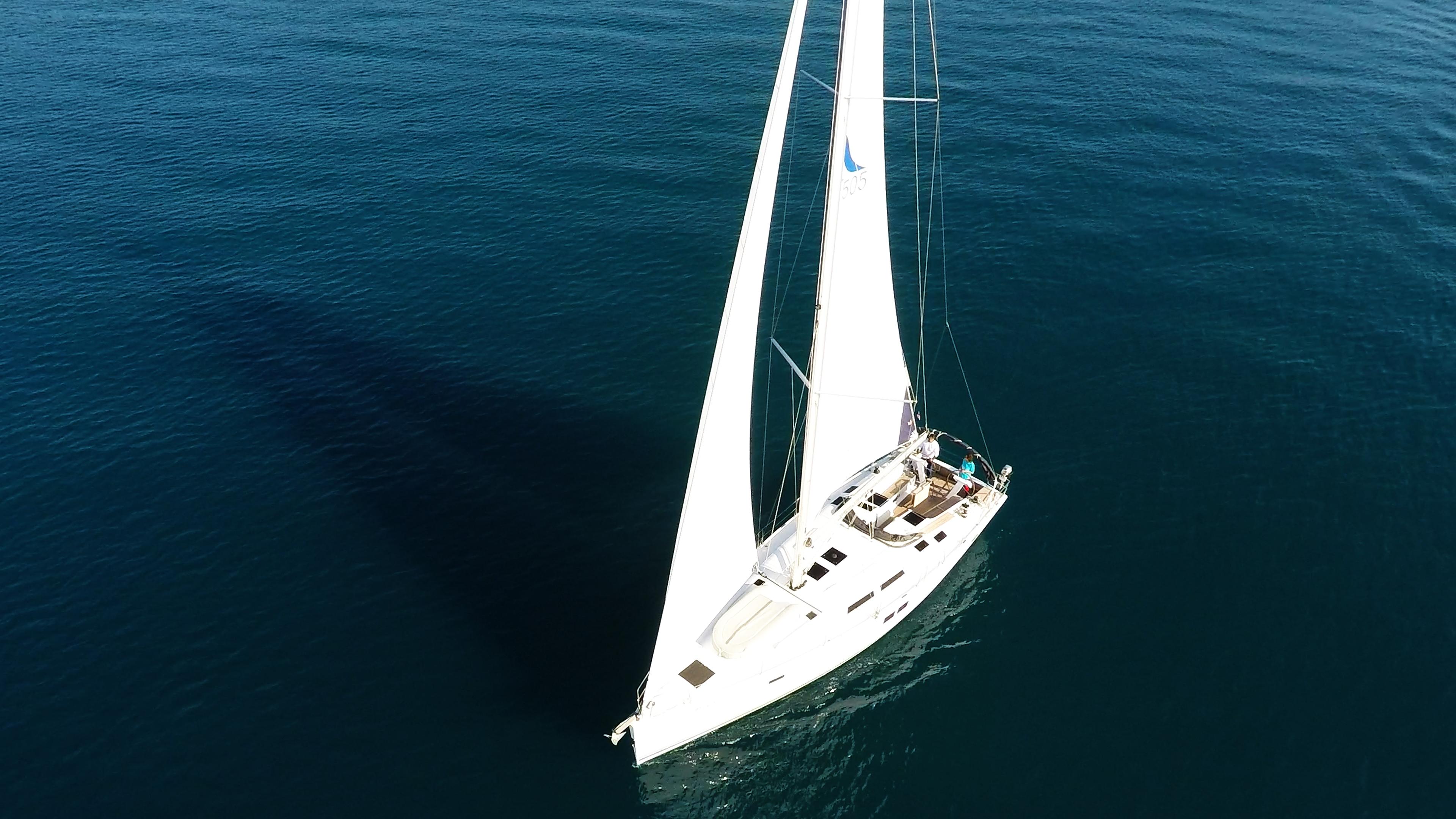 barcha a vela barca a vela dall'aria