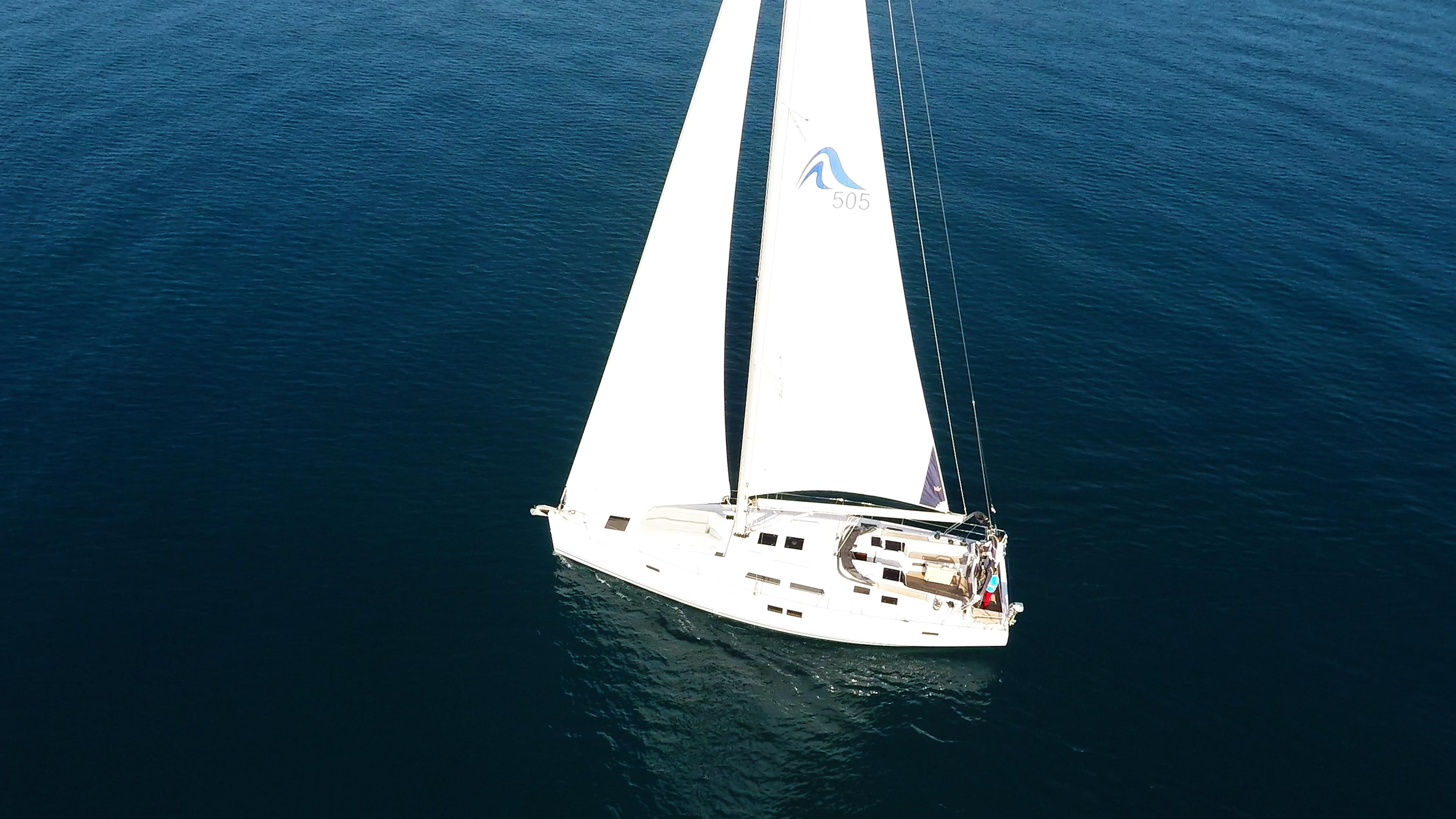 barcha a vela barca a vela Hanse 505 mare blu randa genova