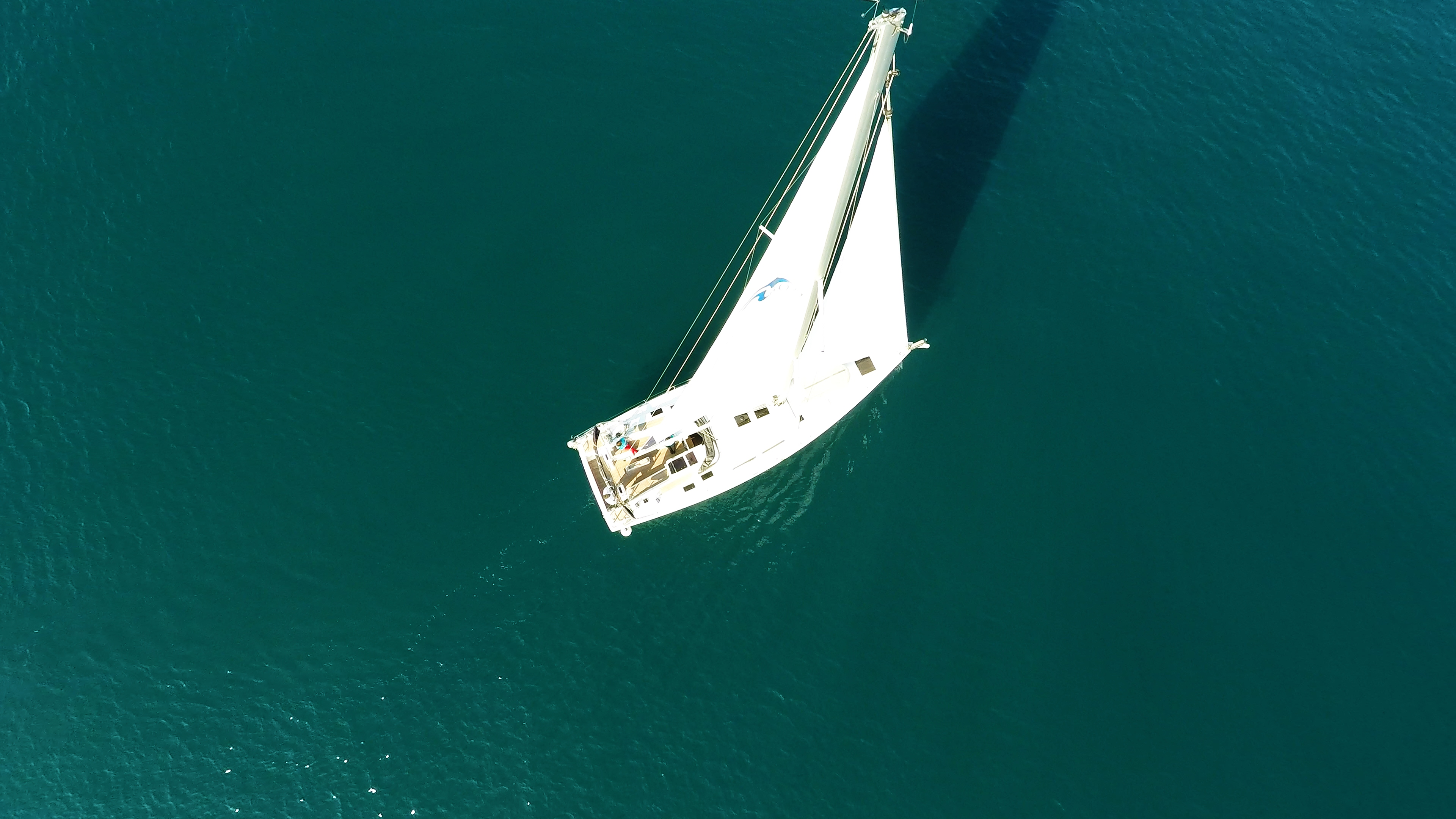 barcha a vela barca a vela Hanse 505 dalla verticalee sopra