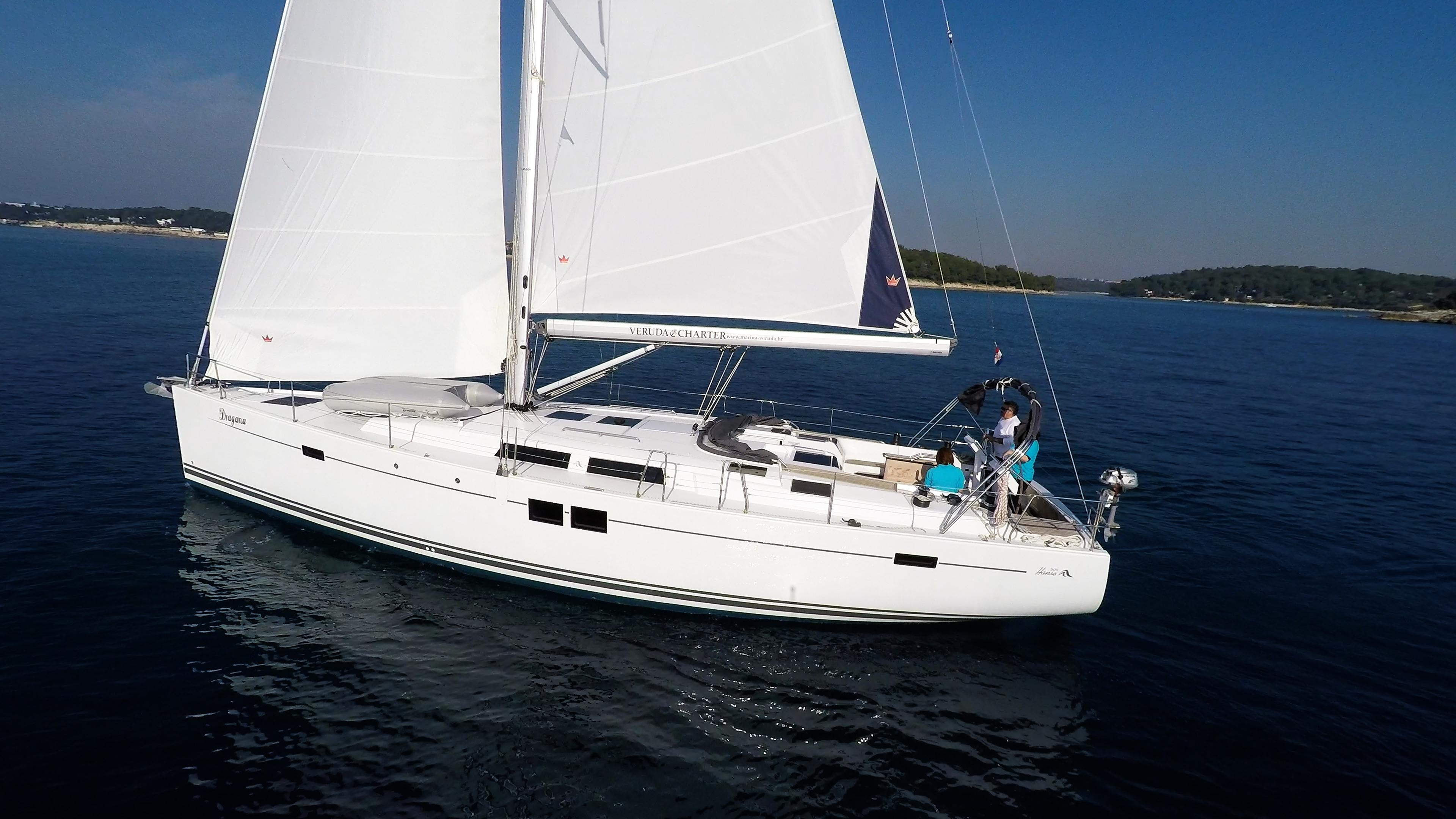 barcha a vela barca a vela Hanse 505 monoscafo