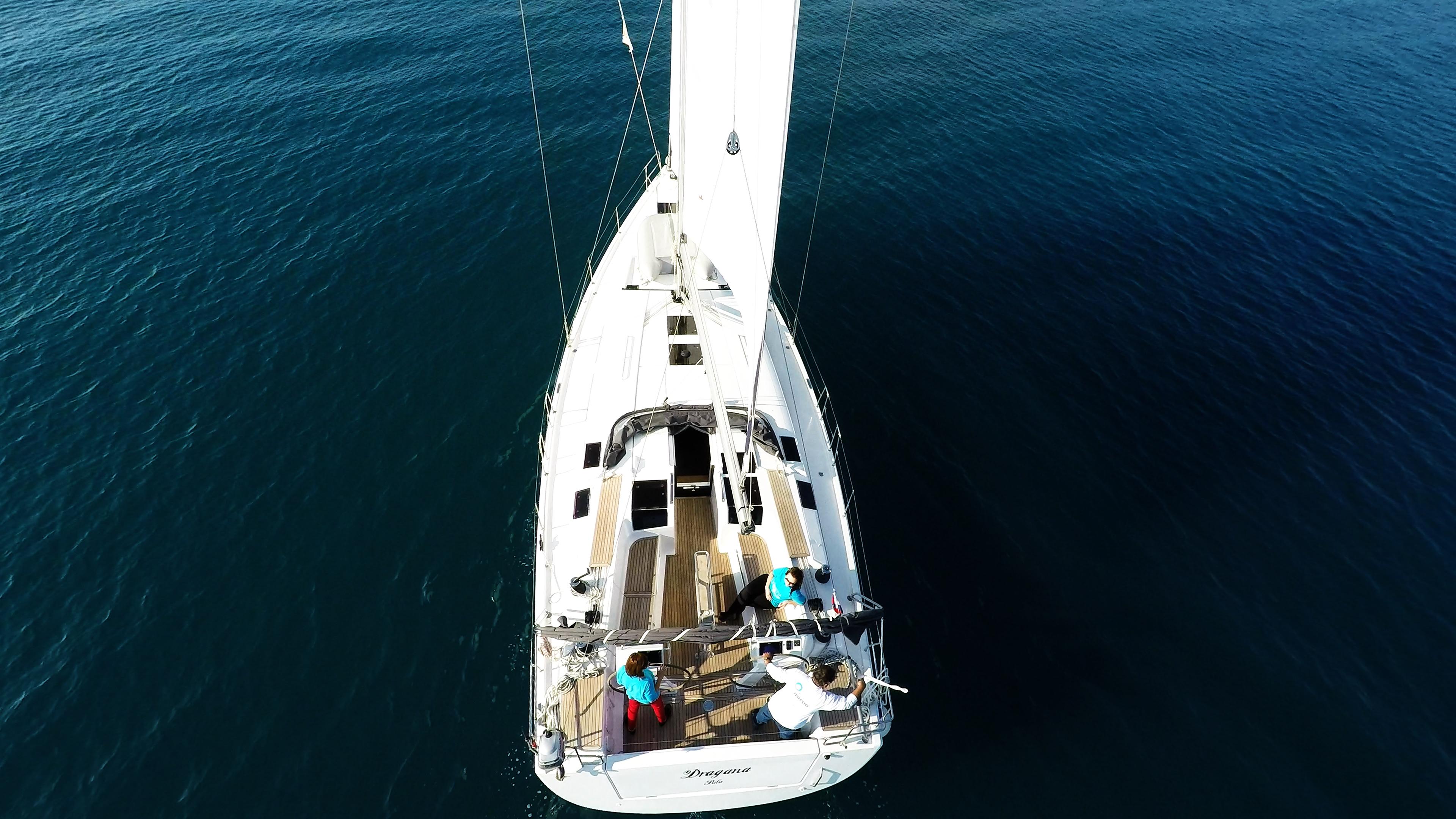 barcha a vela barca a vela Hanse 505 poppa pozzetto da sopra