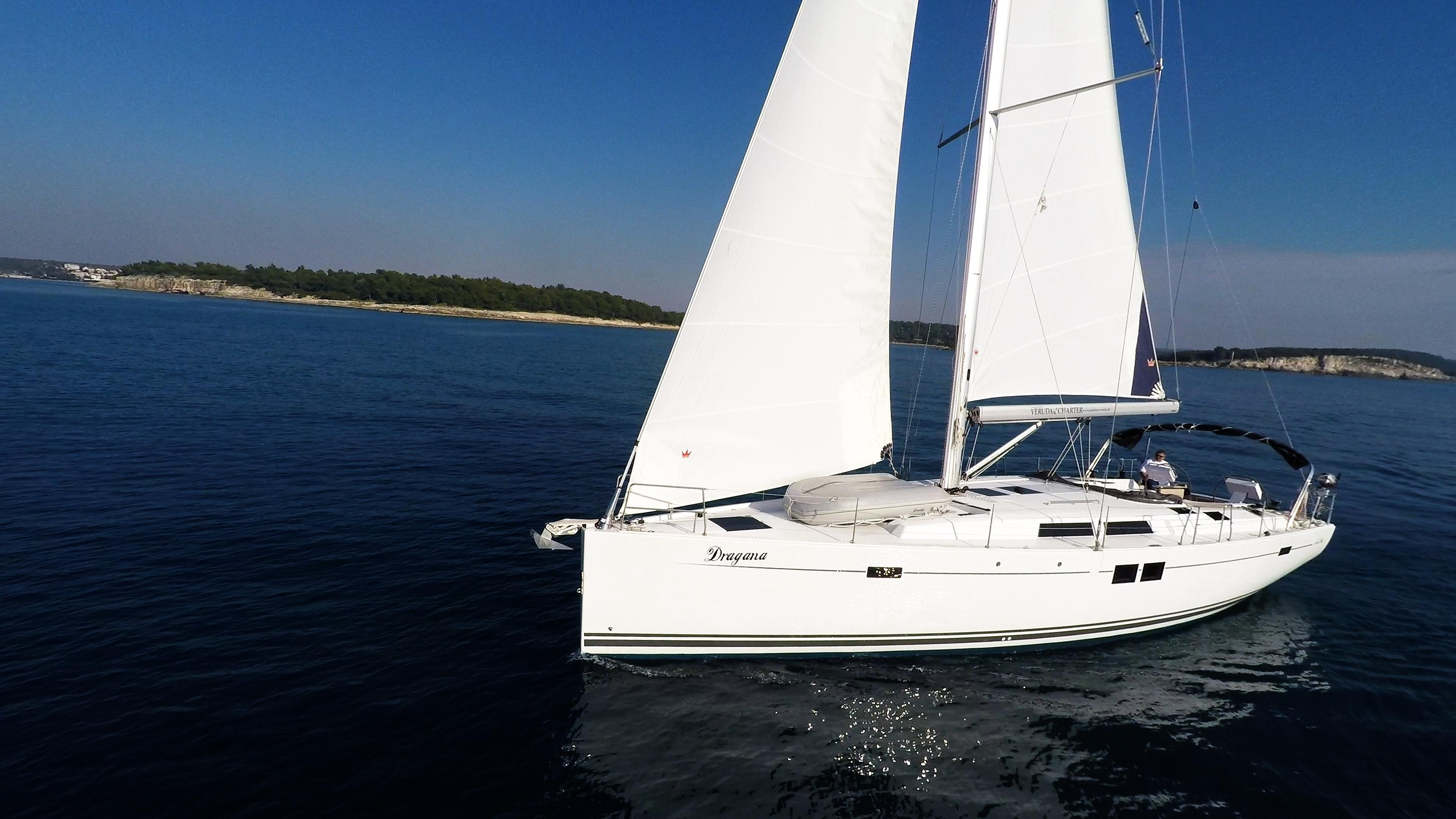 barcha a vela barca a vela monoscafo Hanse 505 mare blu veleggiare