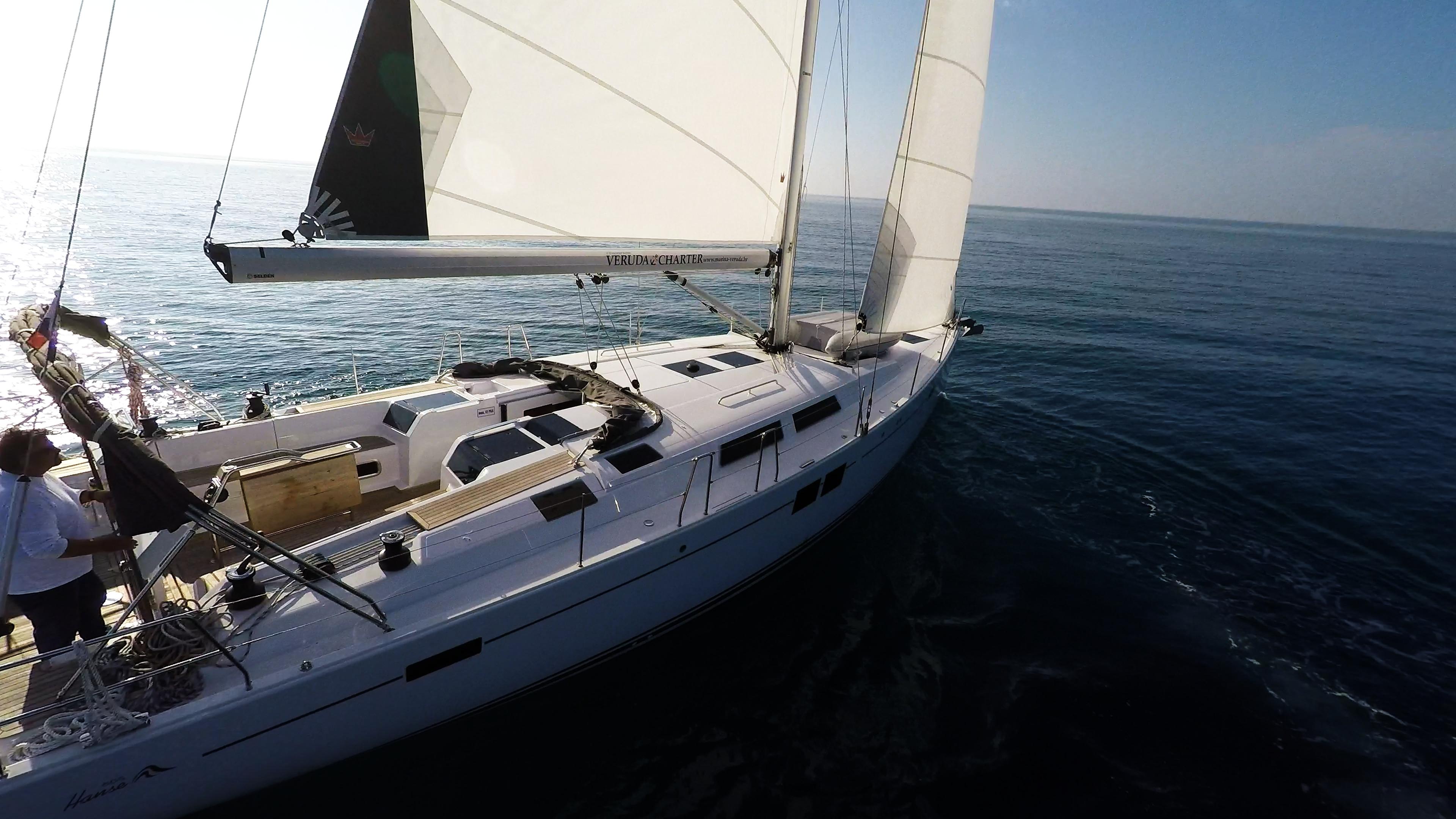 barcha a vela barca a vela veleggiare Hanse 505 yacht