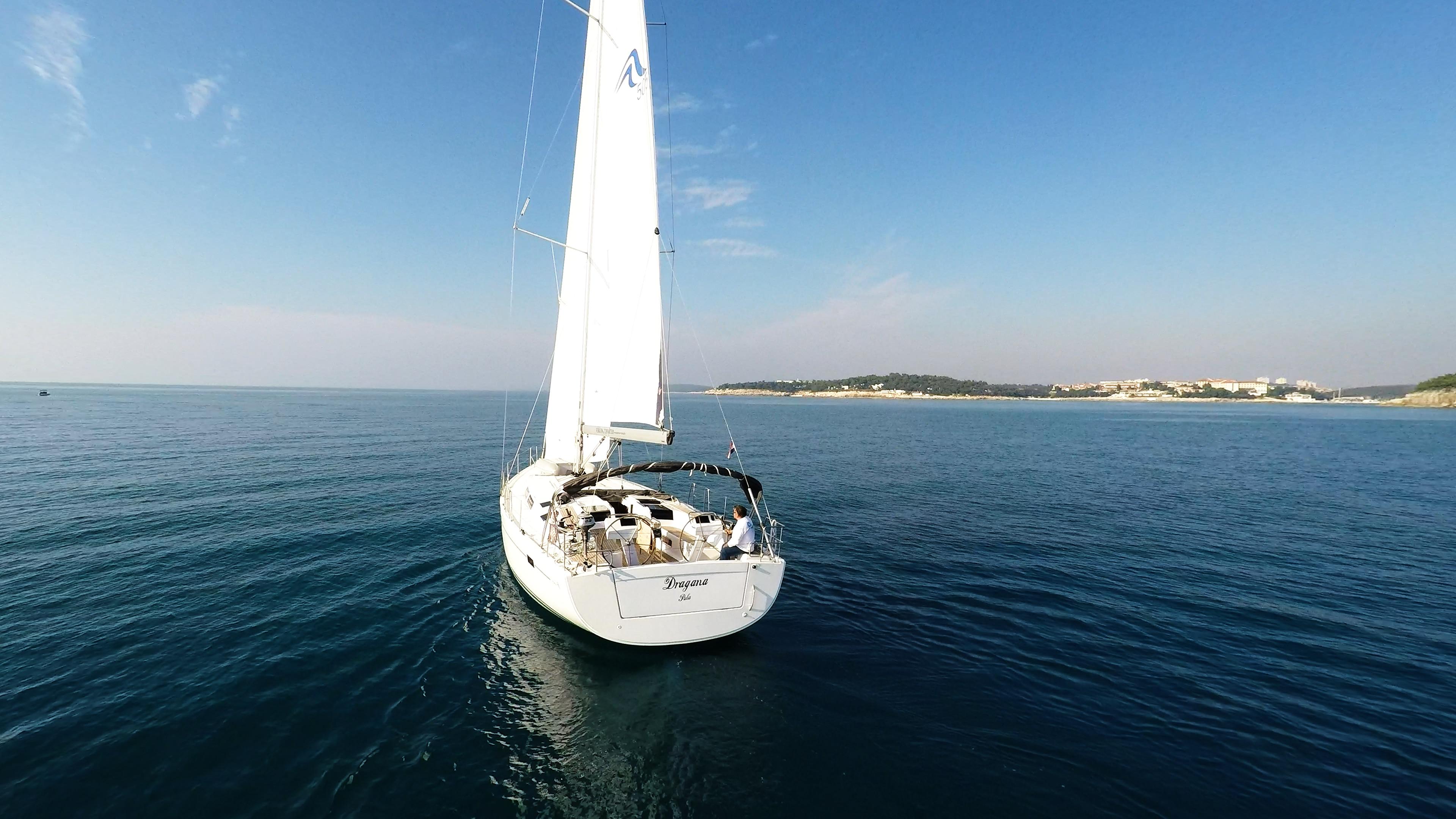 barcha a vela barca a vela mare Hanse 505 poppa poppa vele veleggiare sole