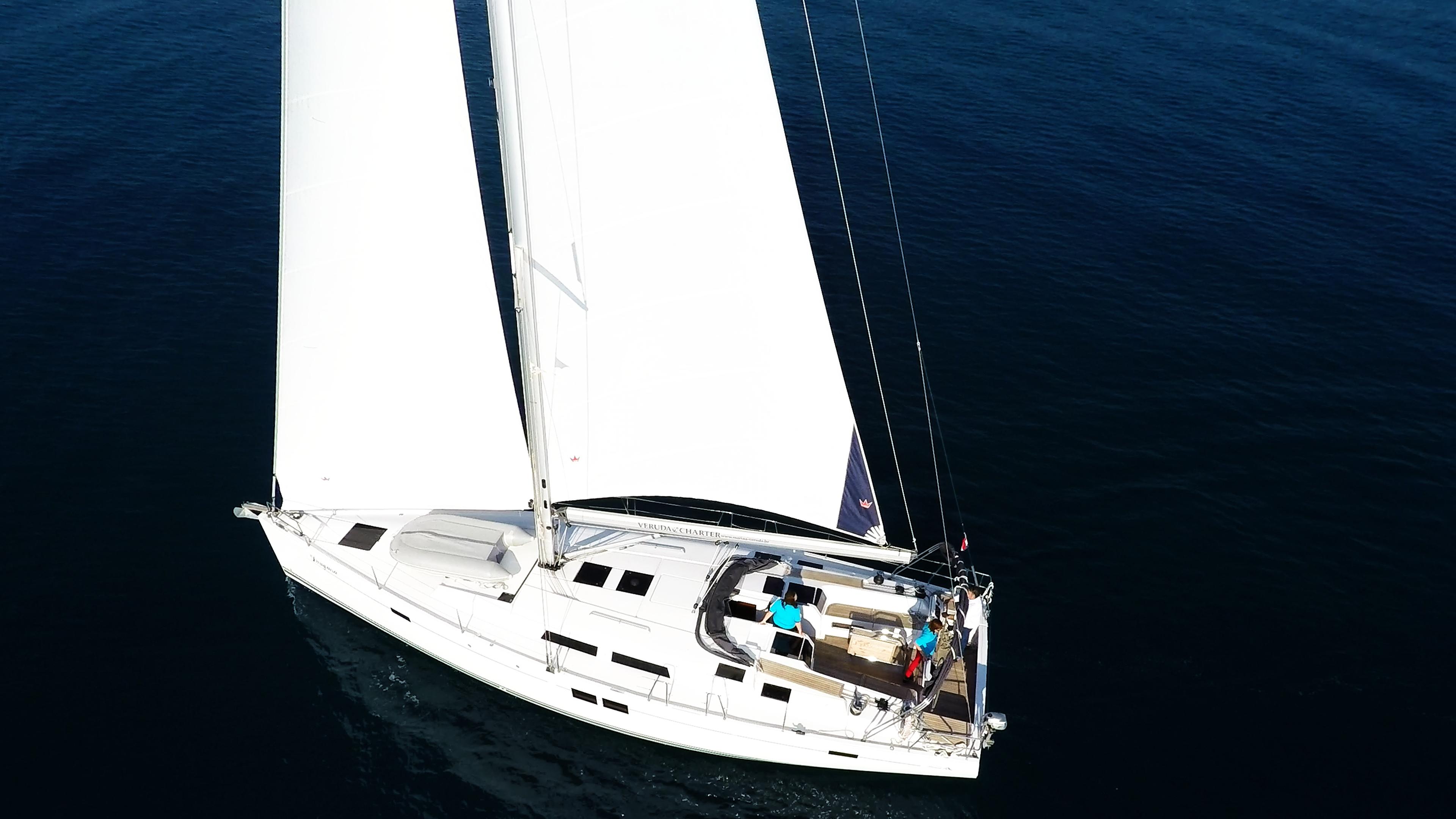 barcha a vela barca a vela Hanse 505 ponte timoni ruota