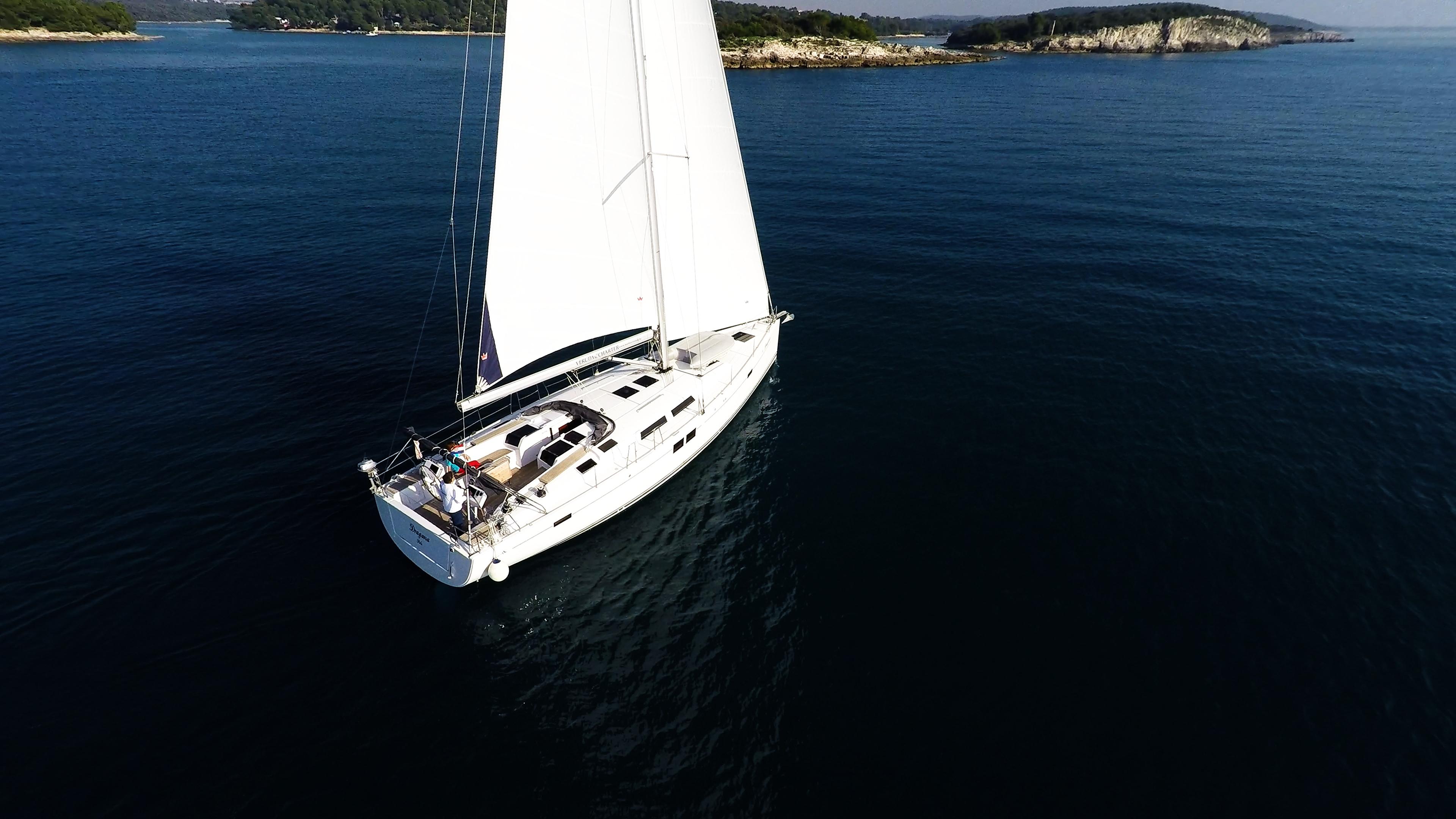 barcha a vela barca a vela Hanse 505 vele ponte pozzetto isole del mare