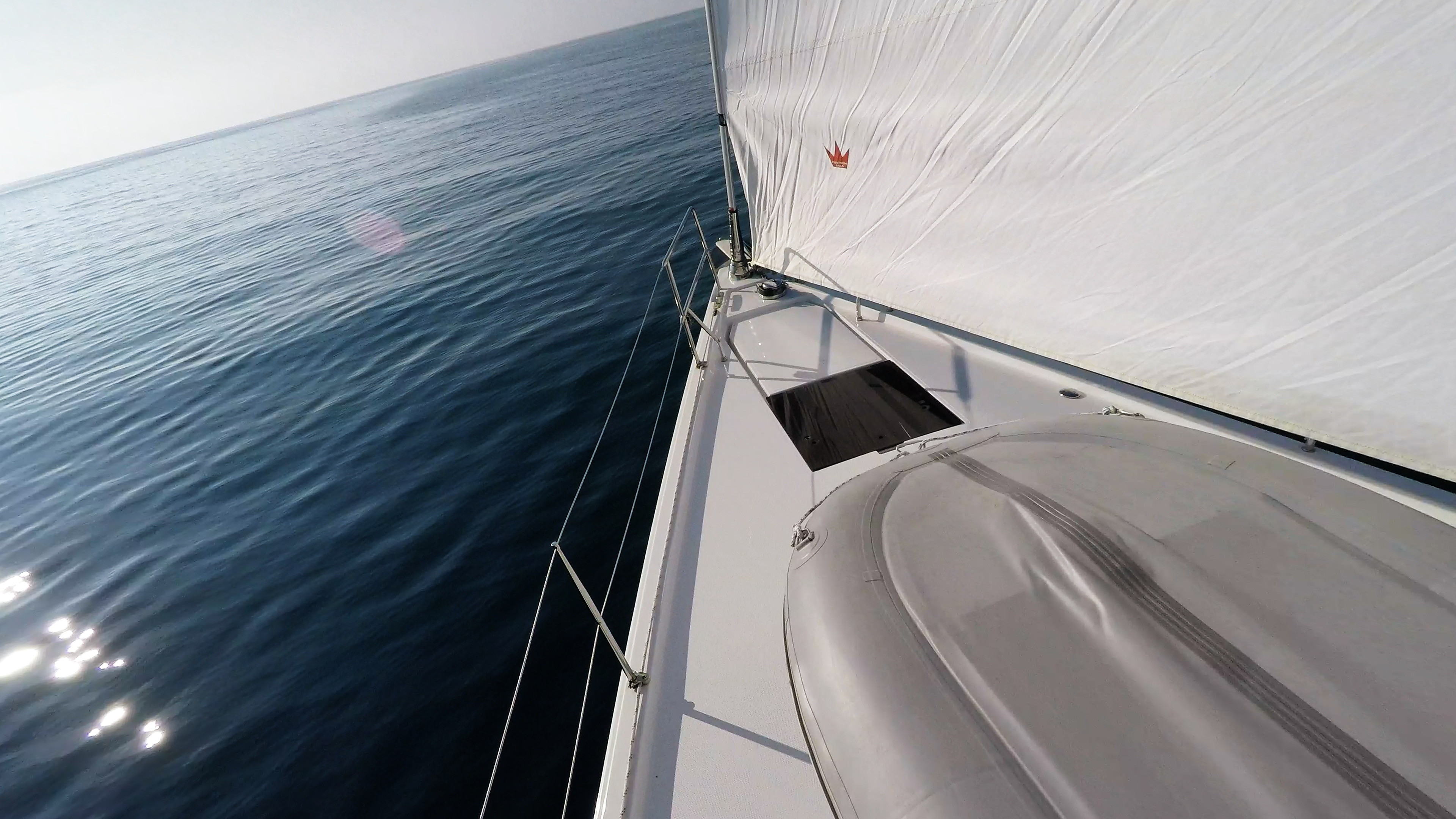 barcha a vela veleggiare mare prua della barca a vela vele yacht
