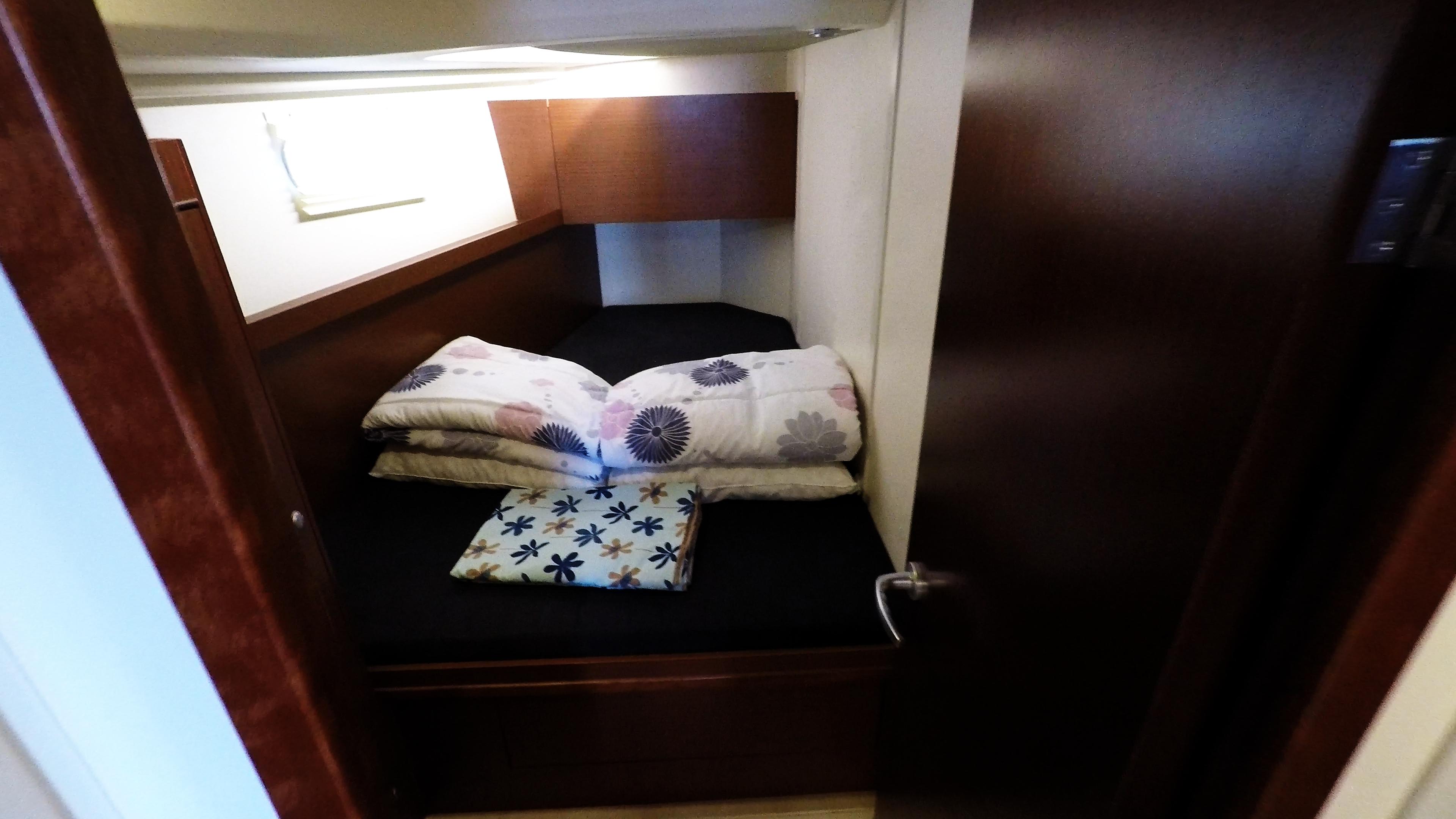 barcha a vela yacht a vela nollegio Hanse 505 cabina anteriore sinistra interno