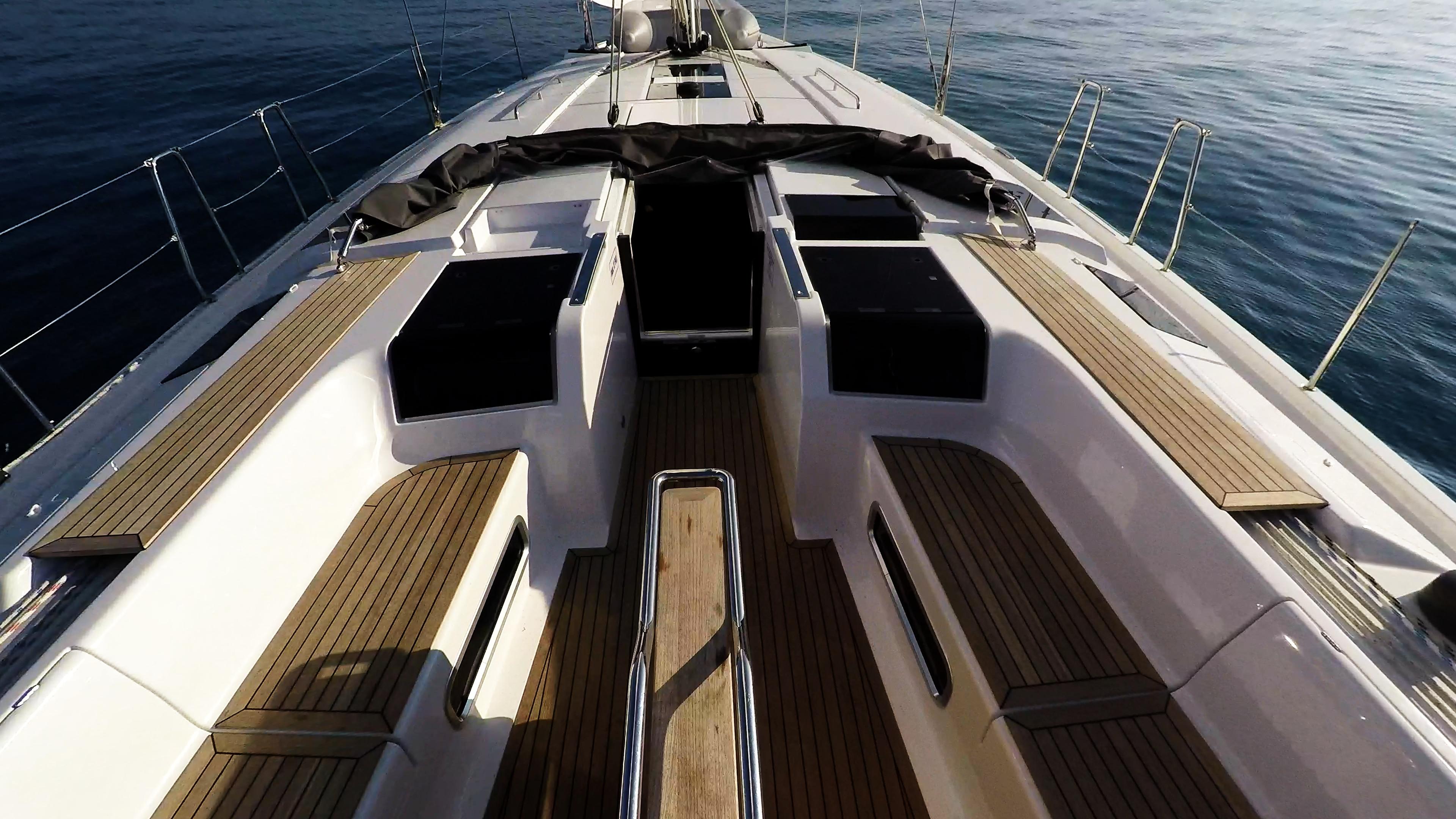 barcha a vela coperta per yacht a vela teak pozzetto Hanse 505