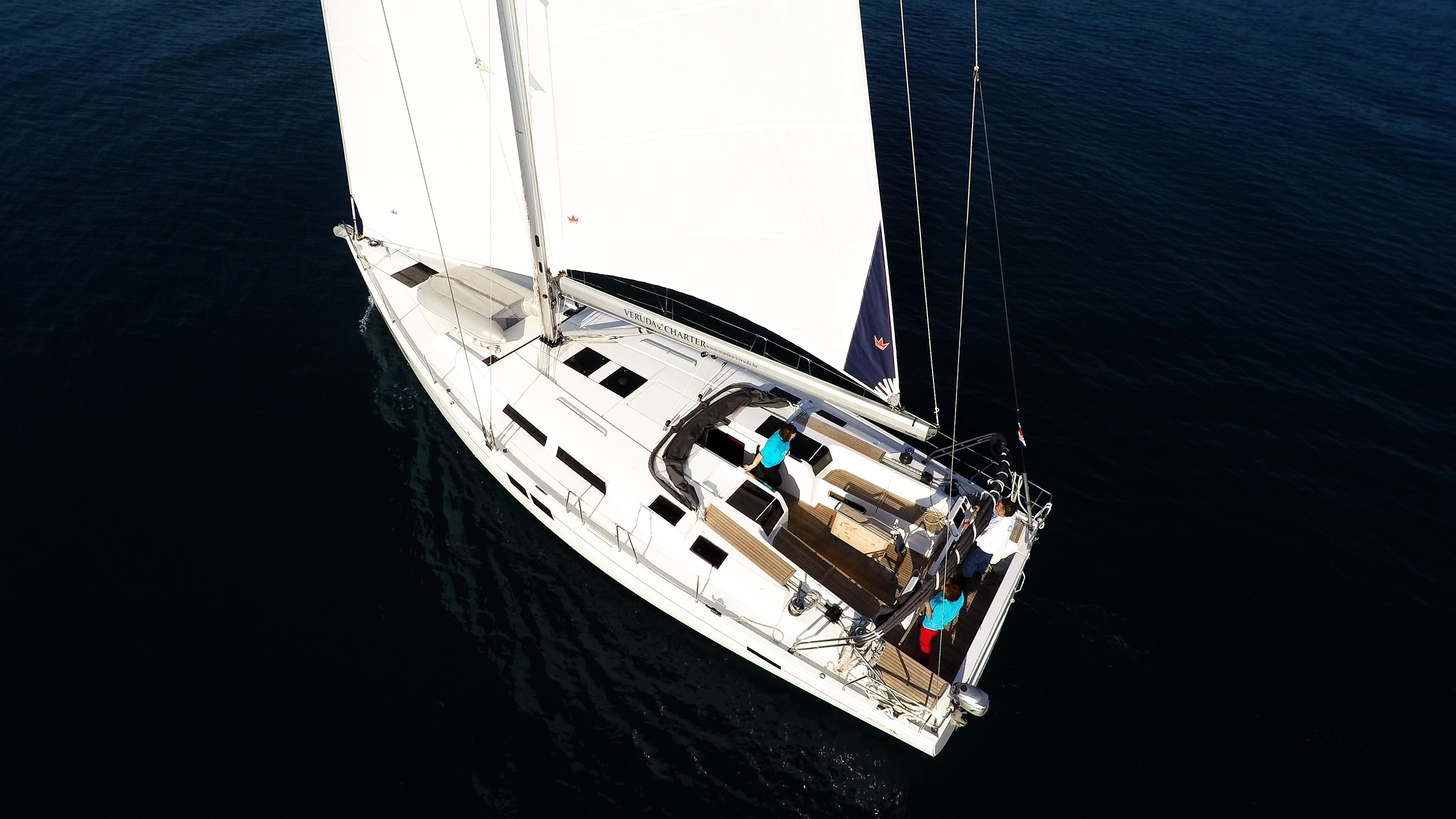 barcha a vela yacht a vela da sopra Hanse 505 ponte pozzetto
