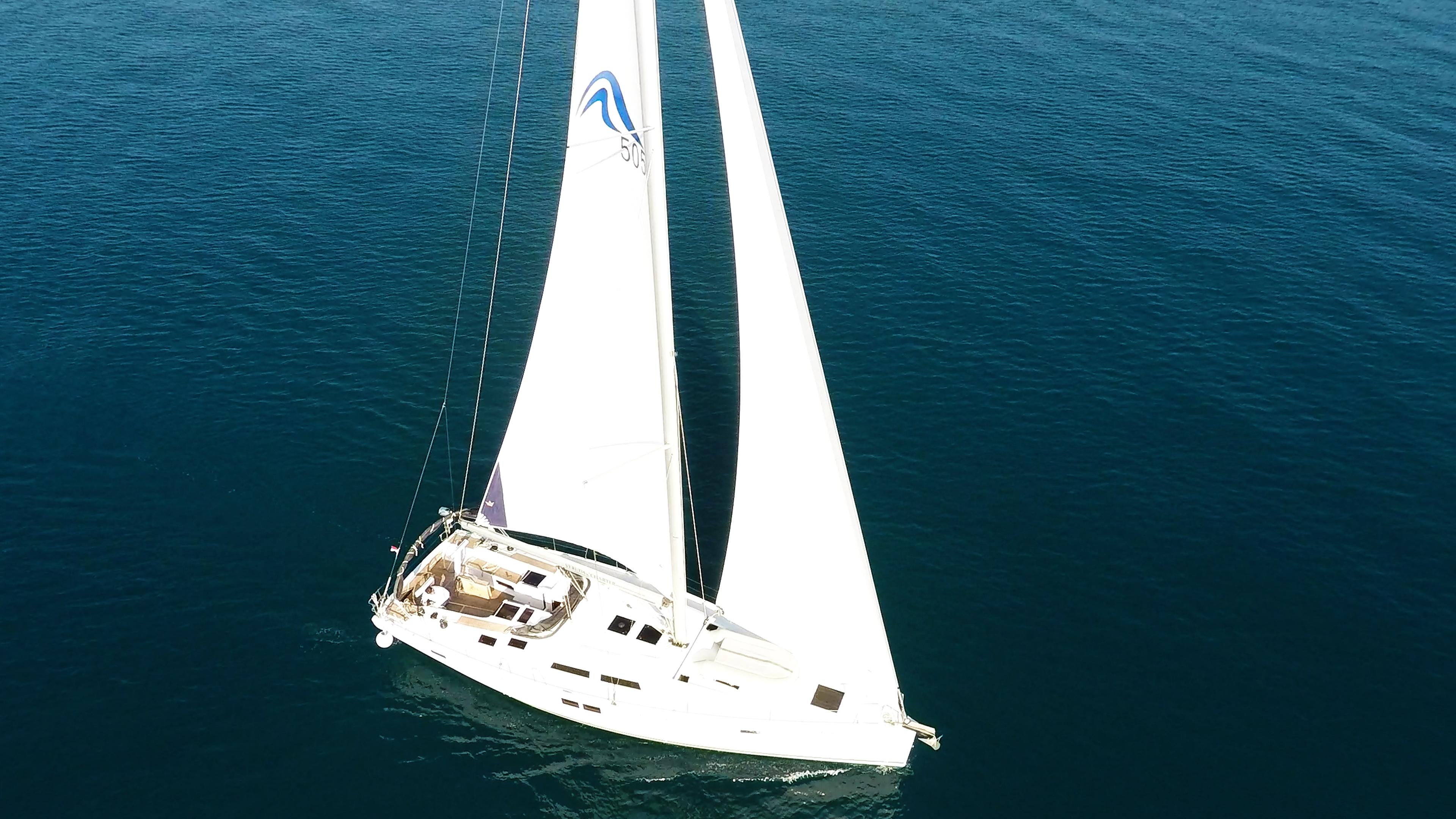 barcha a vela yacht a vela Hanse 505 aereo 1