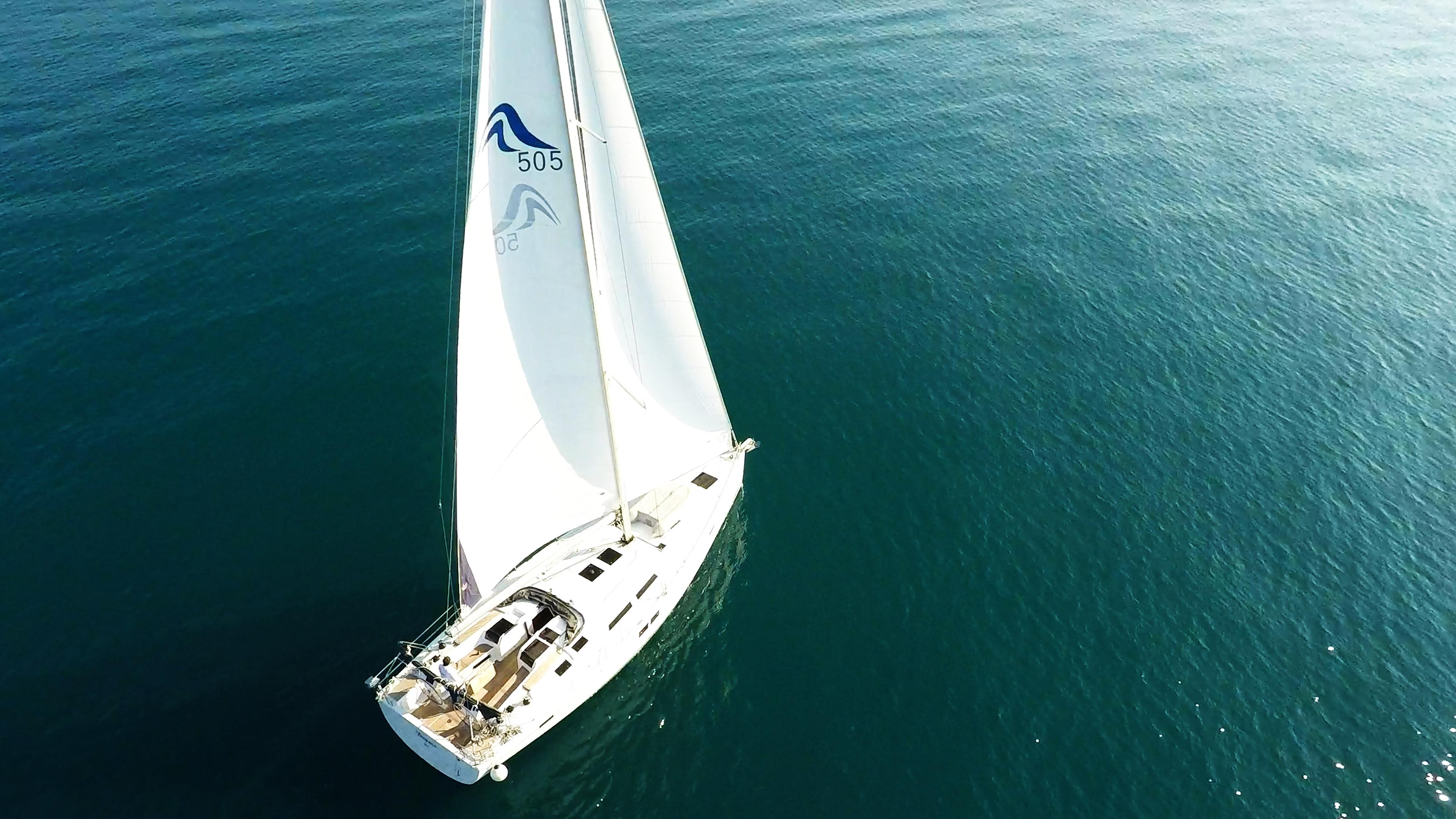 barcha a vela yacht a vela Hanse 505 aereo