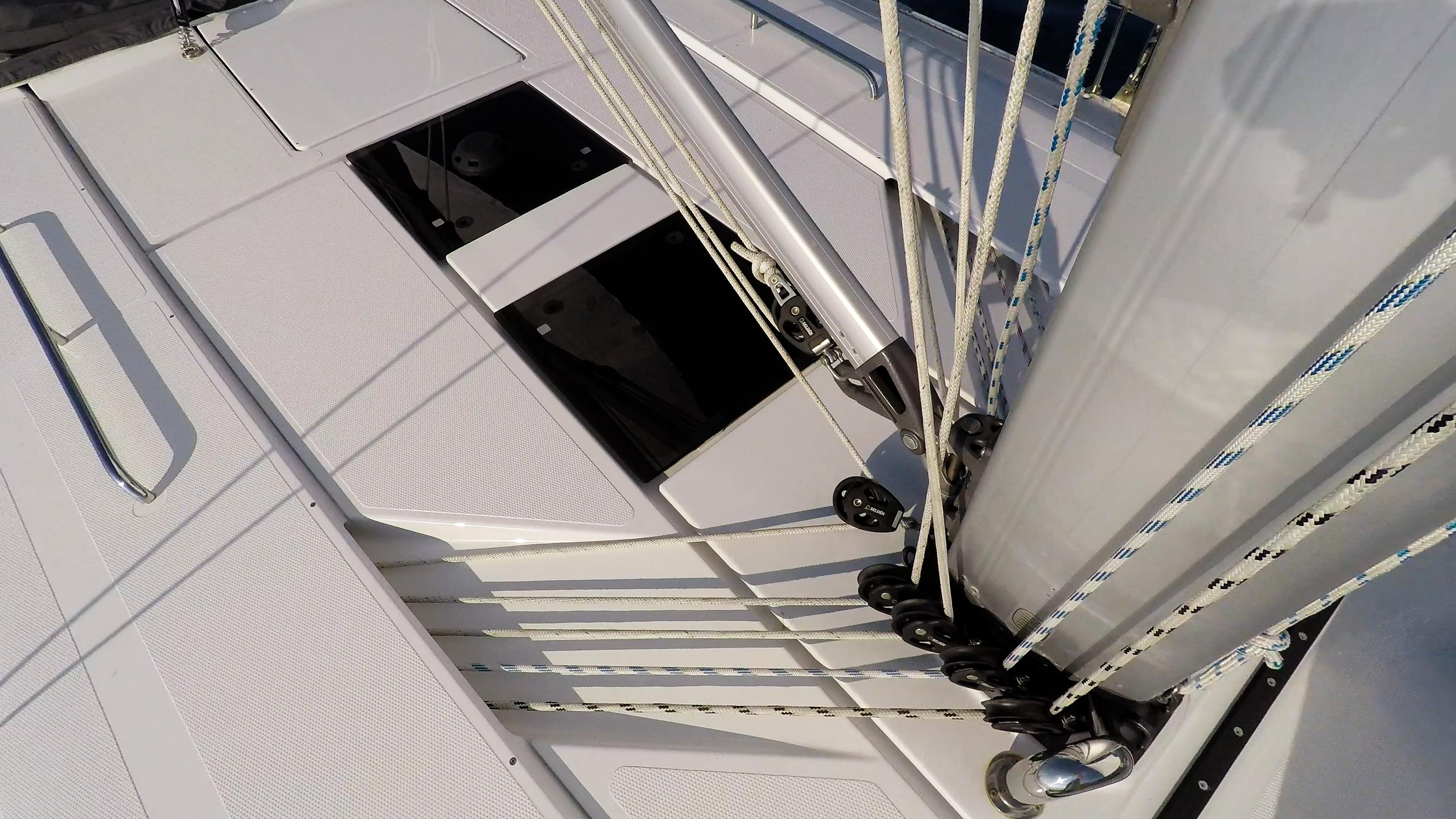 barcha a vela yacht a vela Hanse 505 ponte corde corde sartiame albero