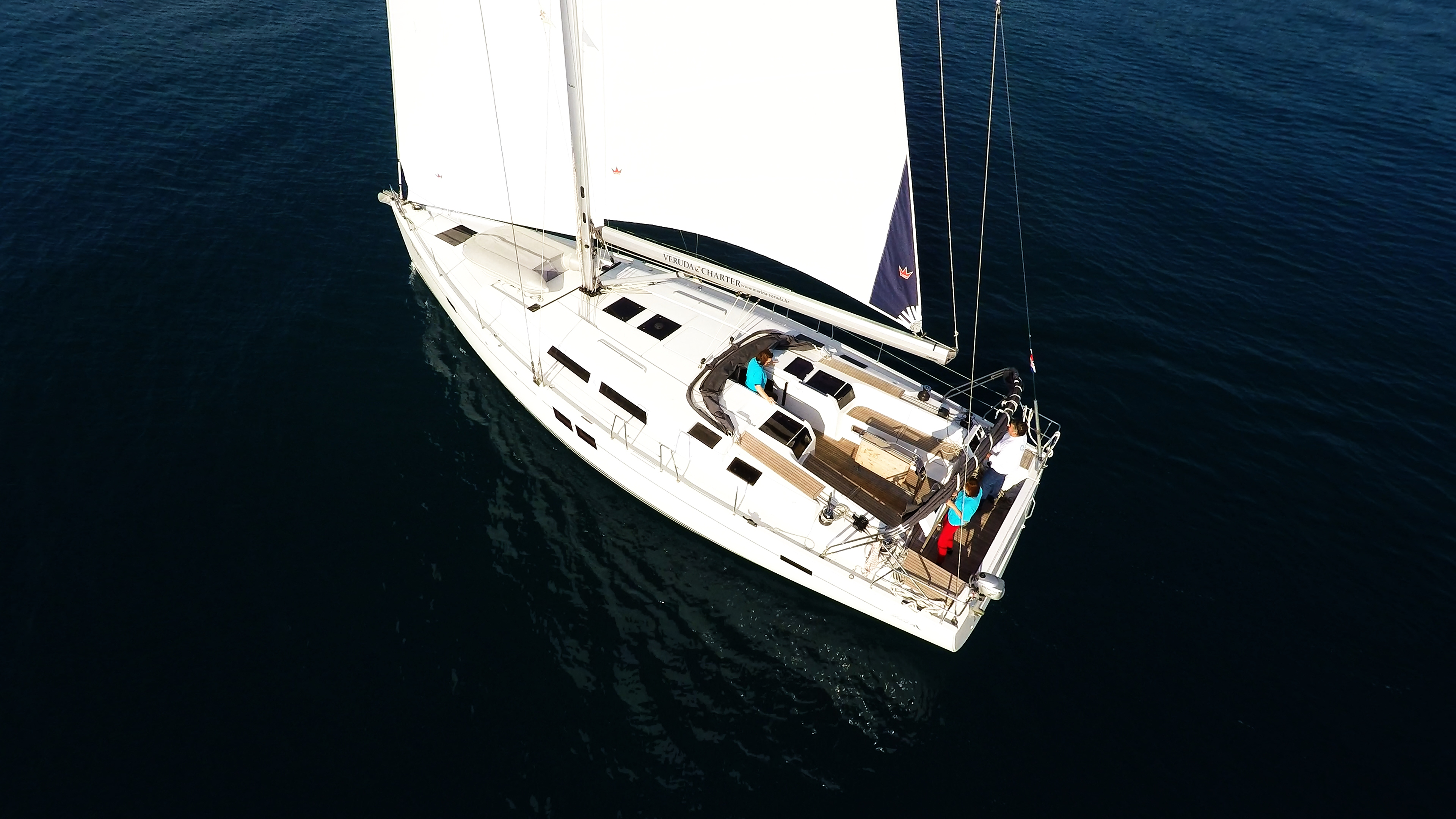 barcha a vela yacht a vela Hanse 505 ponte timoni ruota