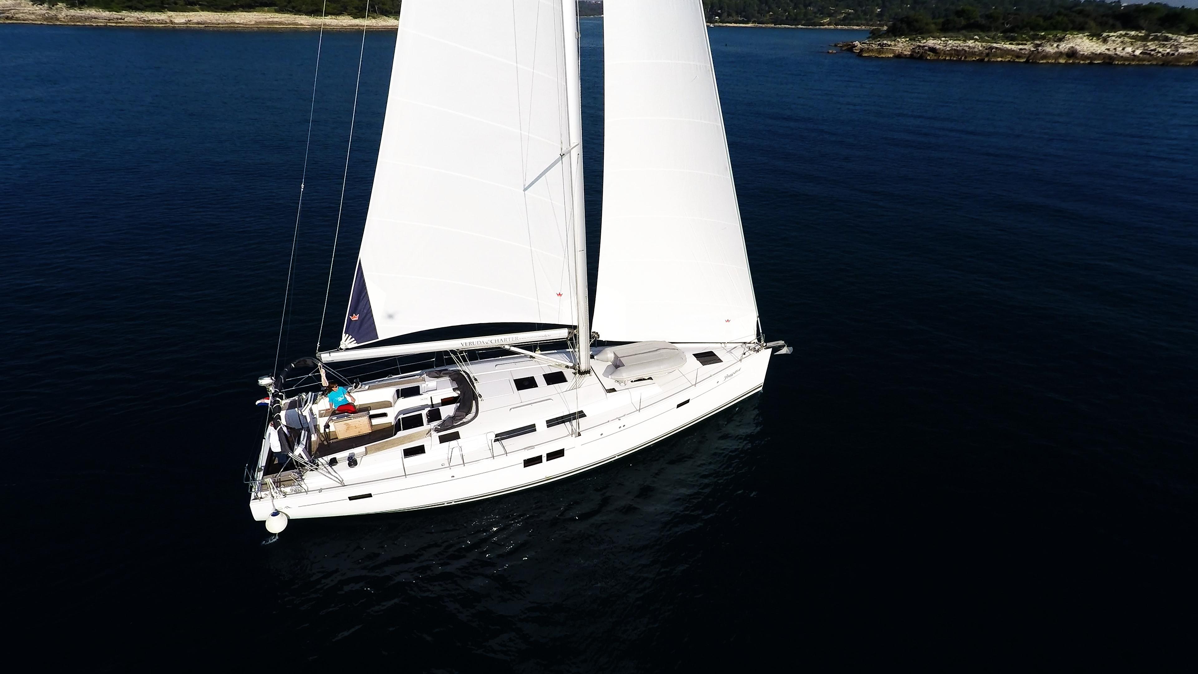 barcha a vela yacht a vela Hanse 505 vele della barca a vela mare blu isole